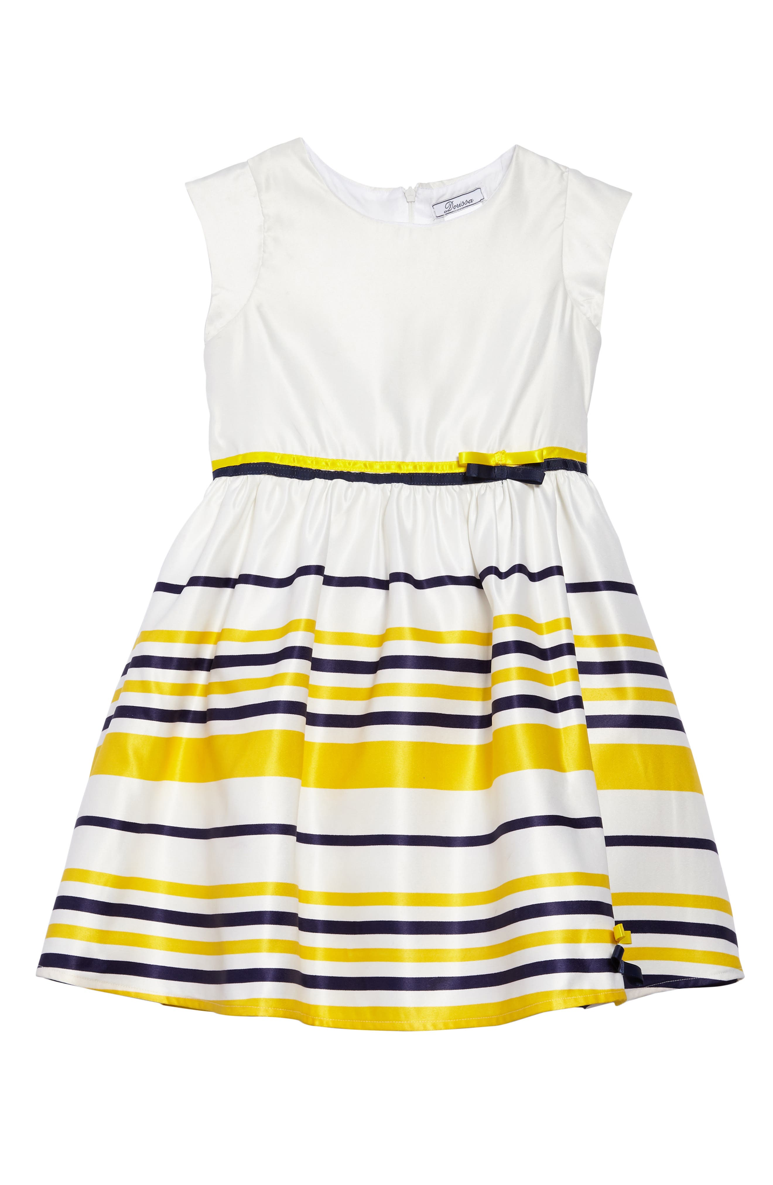 Carly Sleeveless Dress,                         Main,                         color, White/ Multi