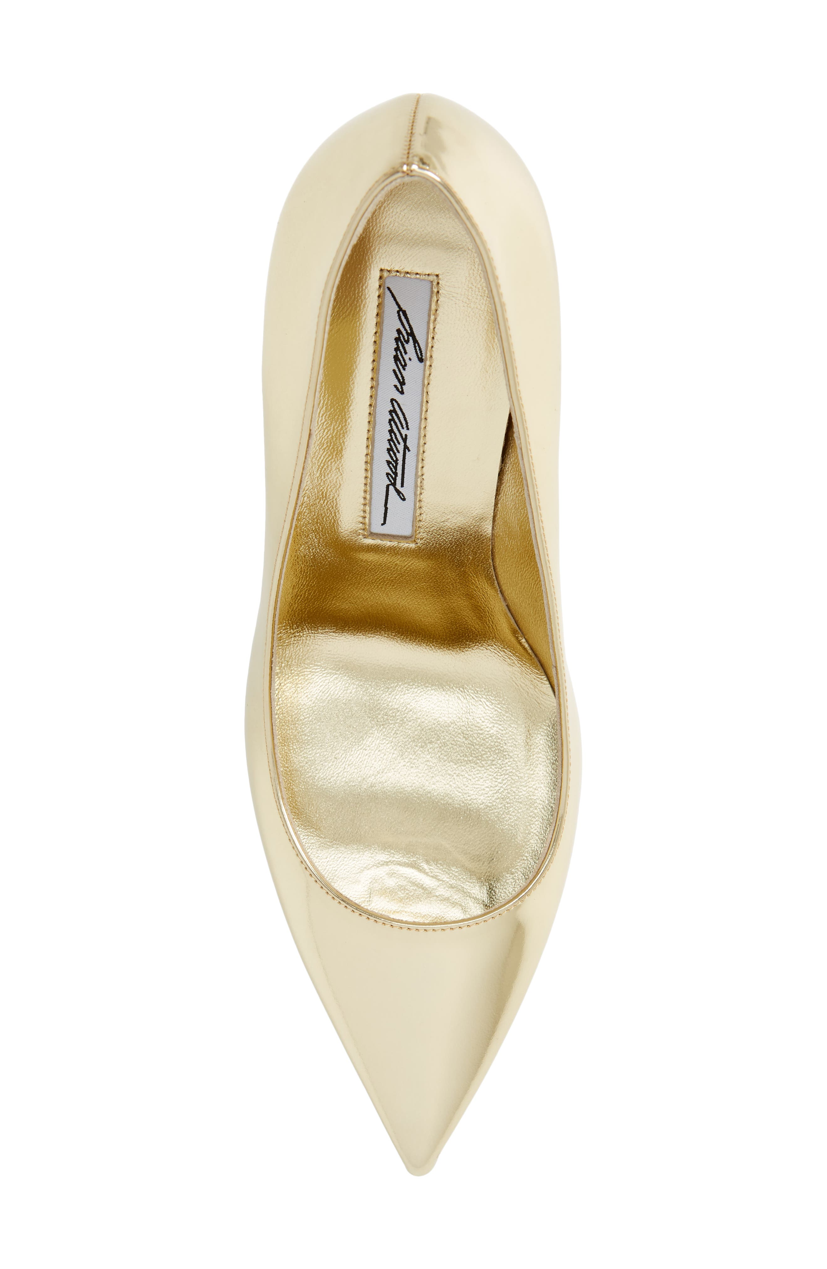 Valerie Pointy Toe Pump,                             Alternate thumbnail 5, color,                             Sahara Gold Specchio