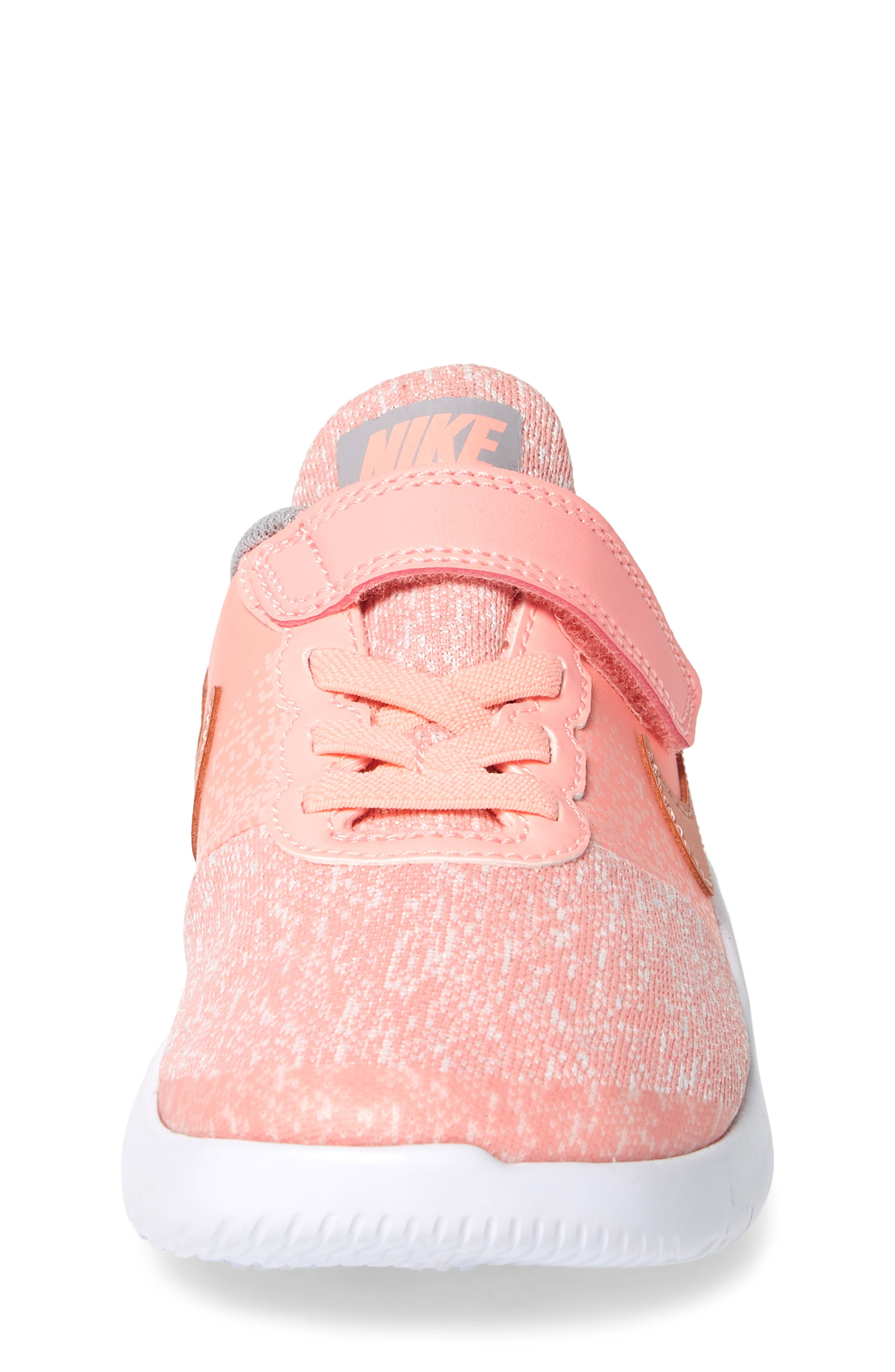 Flex Contact Running Shoe,                             Alternate thumbnail 4, color,                             Rose Gold/ Storm Pink