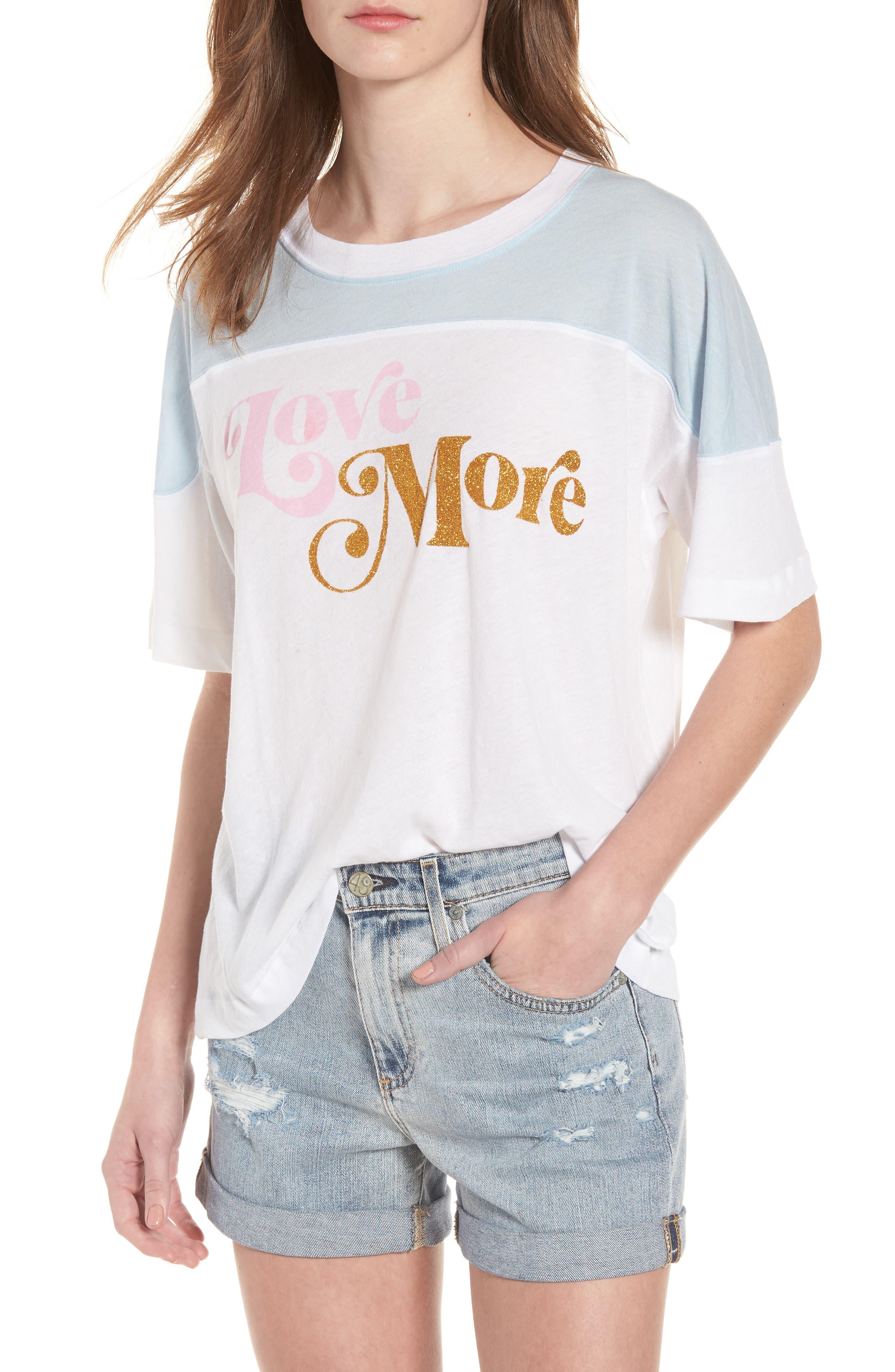 Love More - Samuel Tee,                             Main thumbnail 1, color,                             Clean White