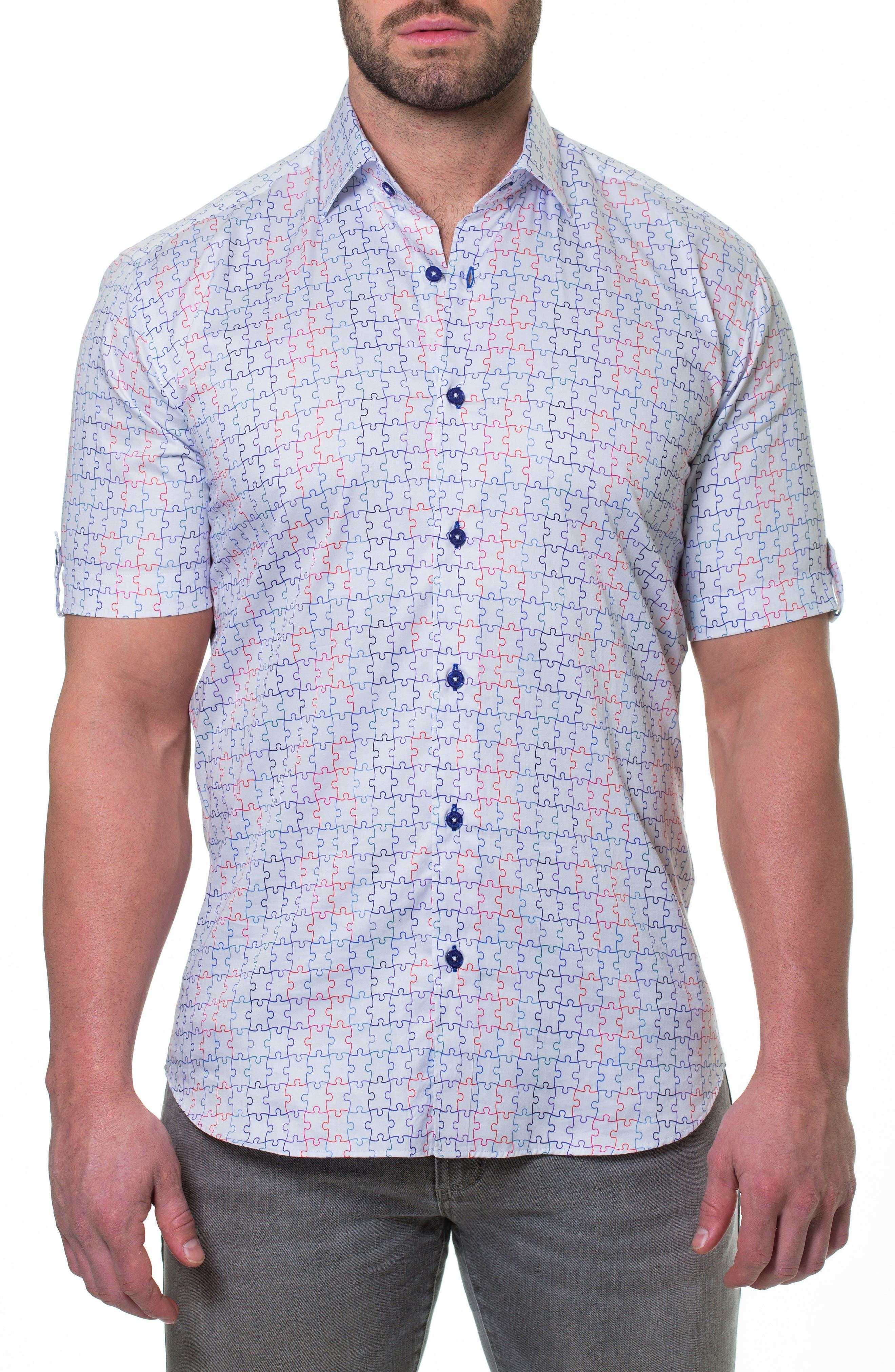 Fresh Jigsaw Slim Fit Sport Shirt,                         Main,                         color, White