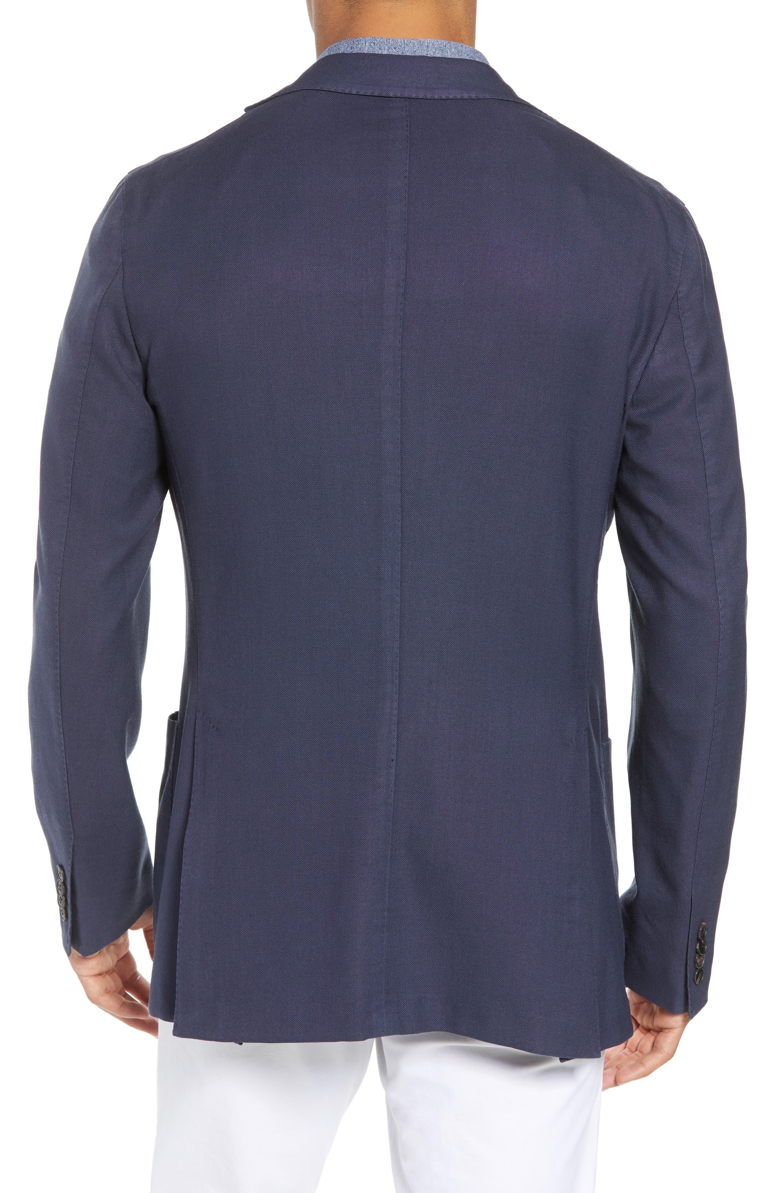 Trim Fit Wool Blazer,                             Alternate thumbnail 2, color,                             Navy