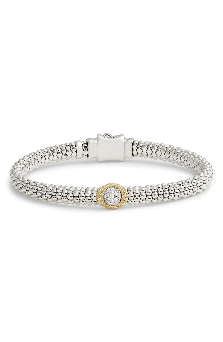 Lagos DIAMOND AND CAVIAR OVAL STATION BRACELET
