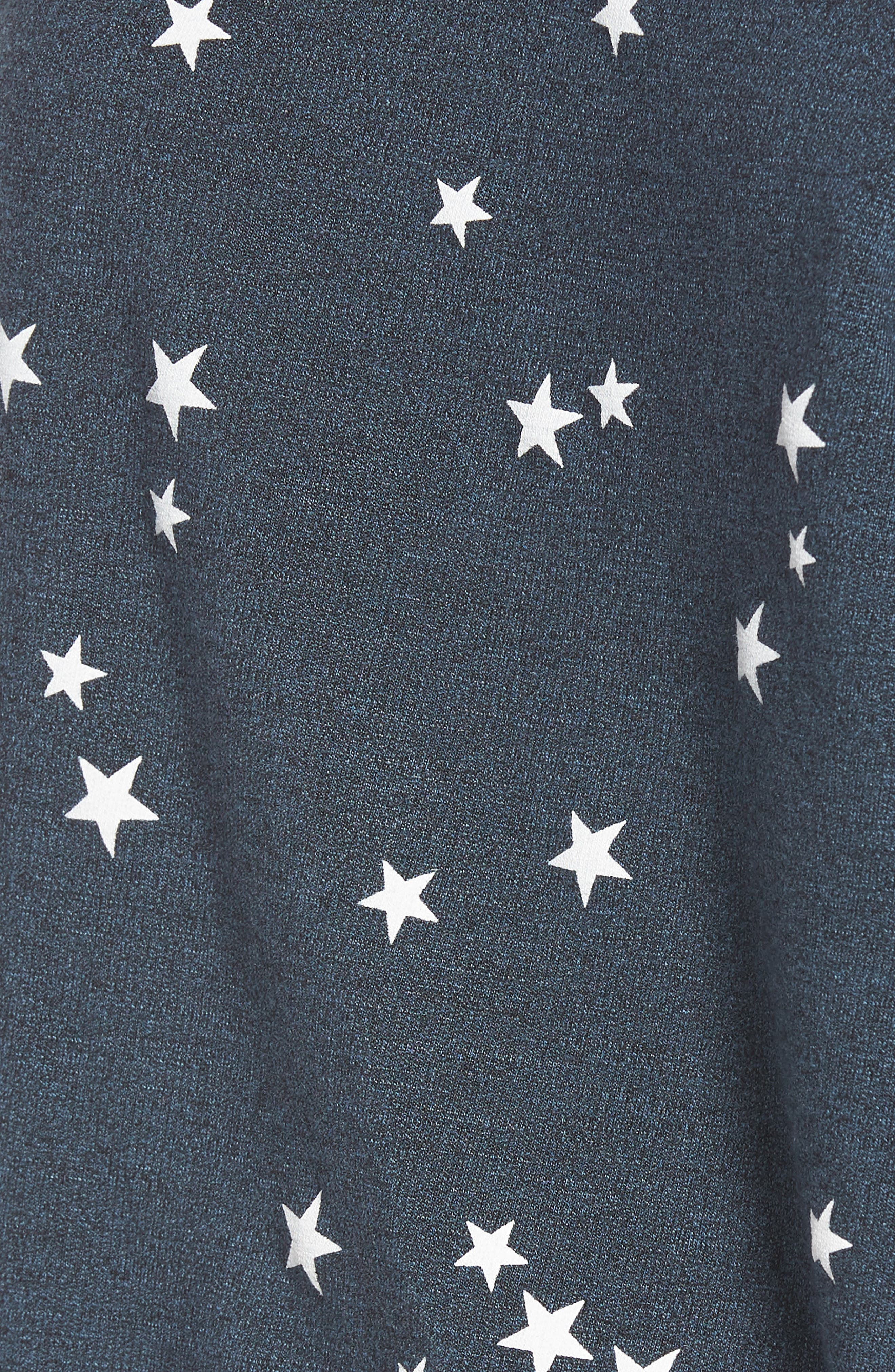 Star Off the Shoulder Pullover,                             Alternate thumbnail 6, color,                             Navy