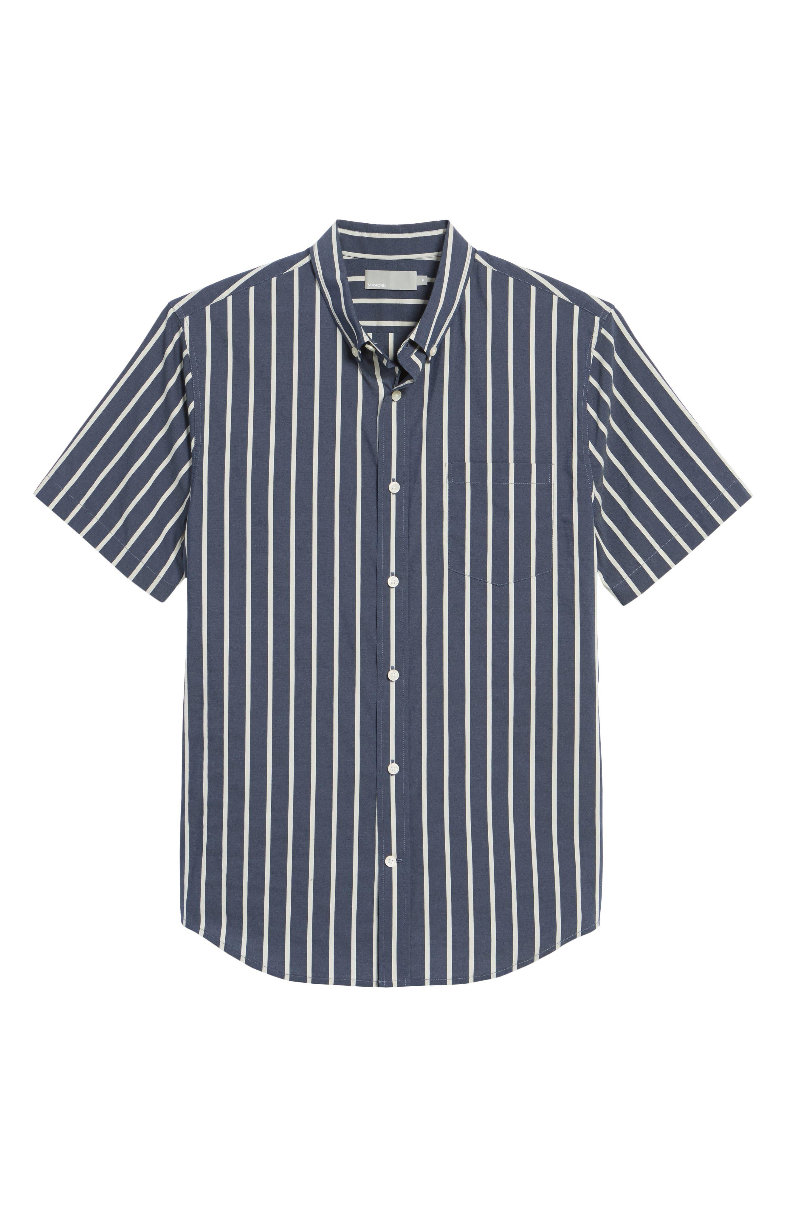 Regular Fit Stretch Short Sleeve Sport Shirt,                             Alternate thumbnail 6, color,                             New Coastal
