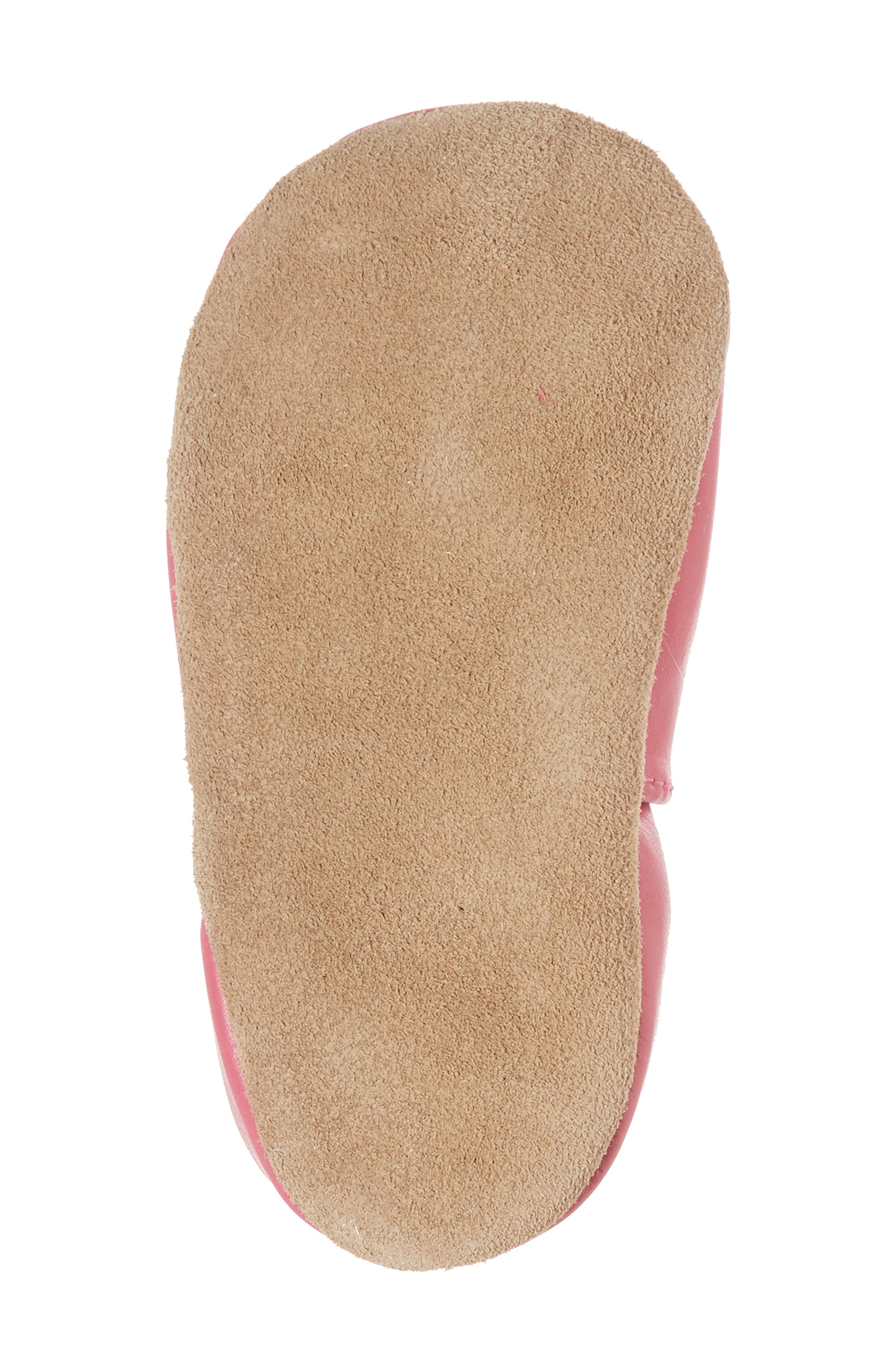 Fiona Flower Moccasin Crib Shoe,                             Alternate thumbnail 6, color,                             Hot Pink