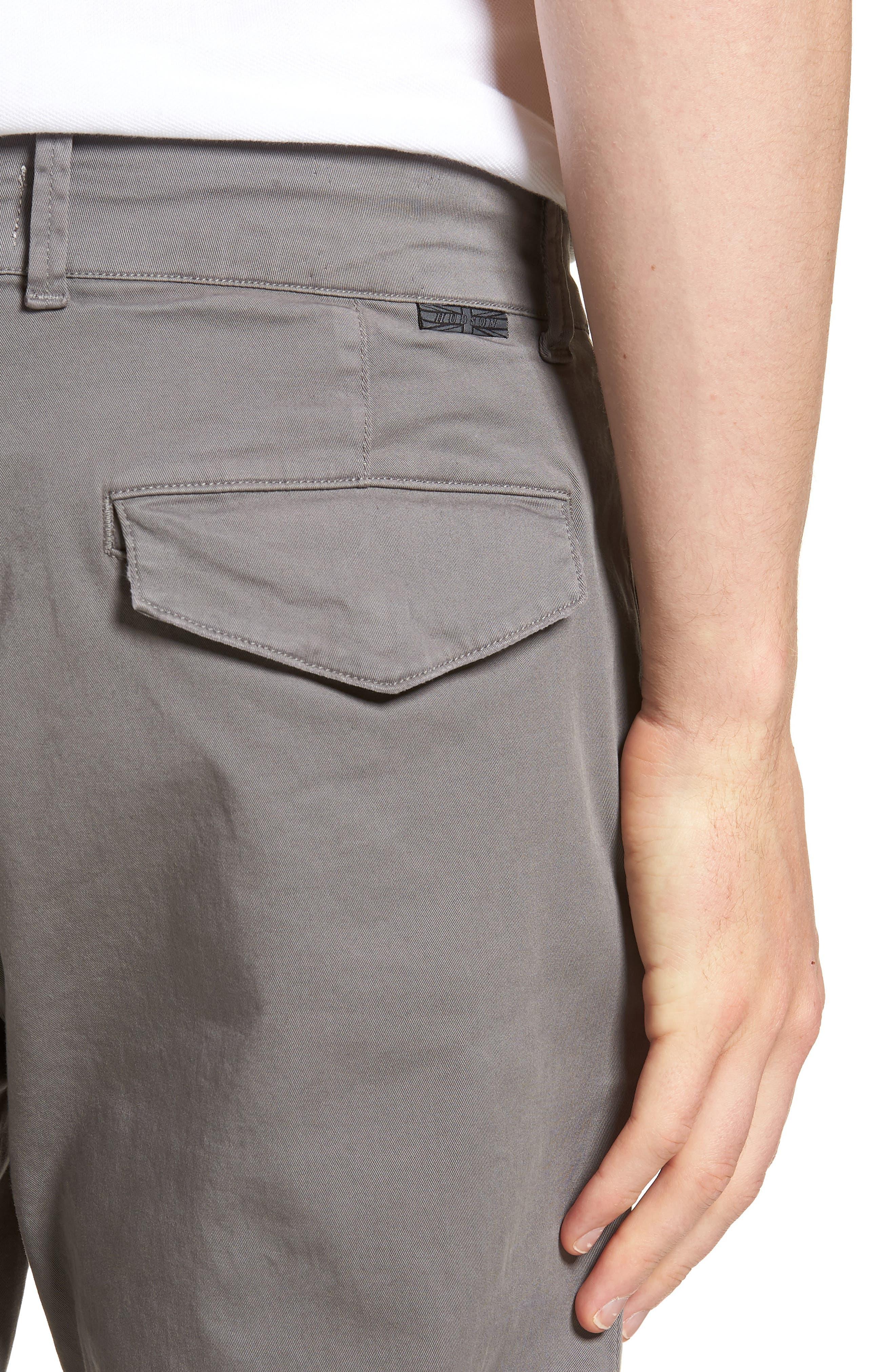 Hudson Clint Stretch Chino Pants,                             Alternate thumbnail 4, color,                             Grey