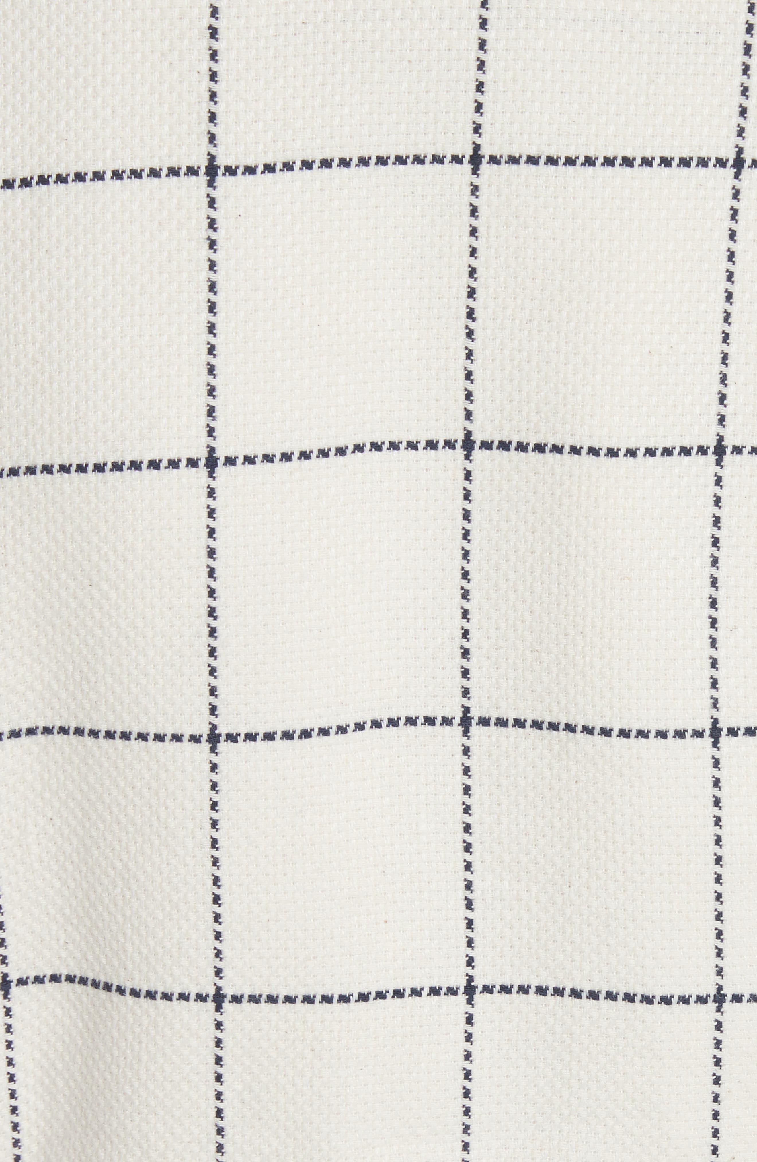 Duchess Elbow Patch Linen Blend Blazer,                             Alternate thumbnail 5, color,                             Gatsby Windowpane