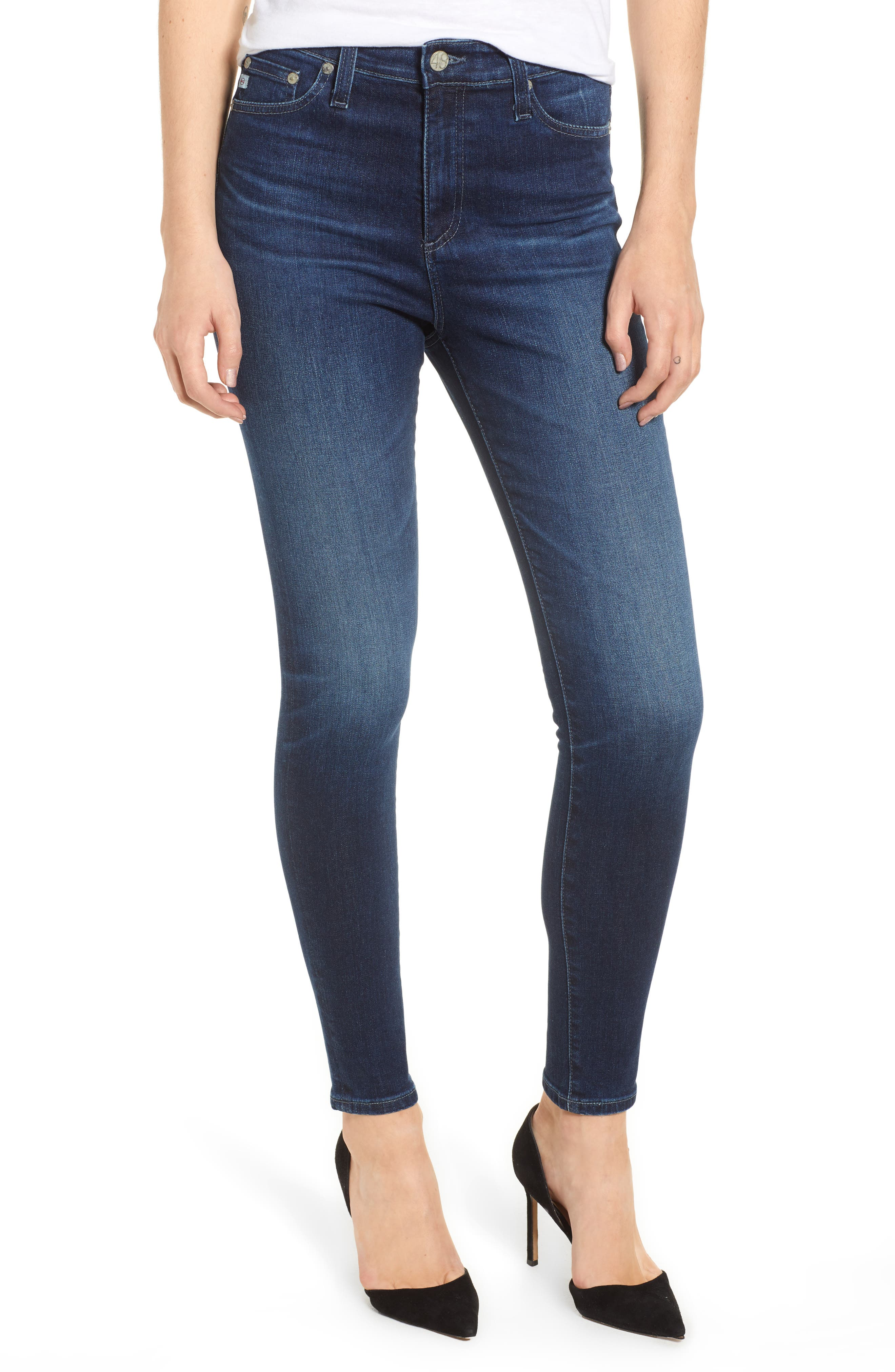 Mila Ankle Skinny Jeans,                         Main,                         color, 4 Years Deep Willows