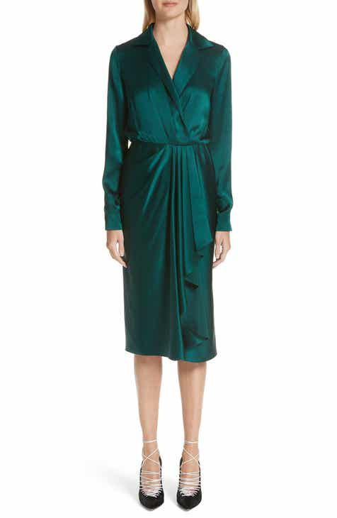 Jason Wu Surplice Silk Charmeuse Dress