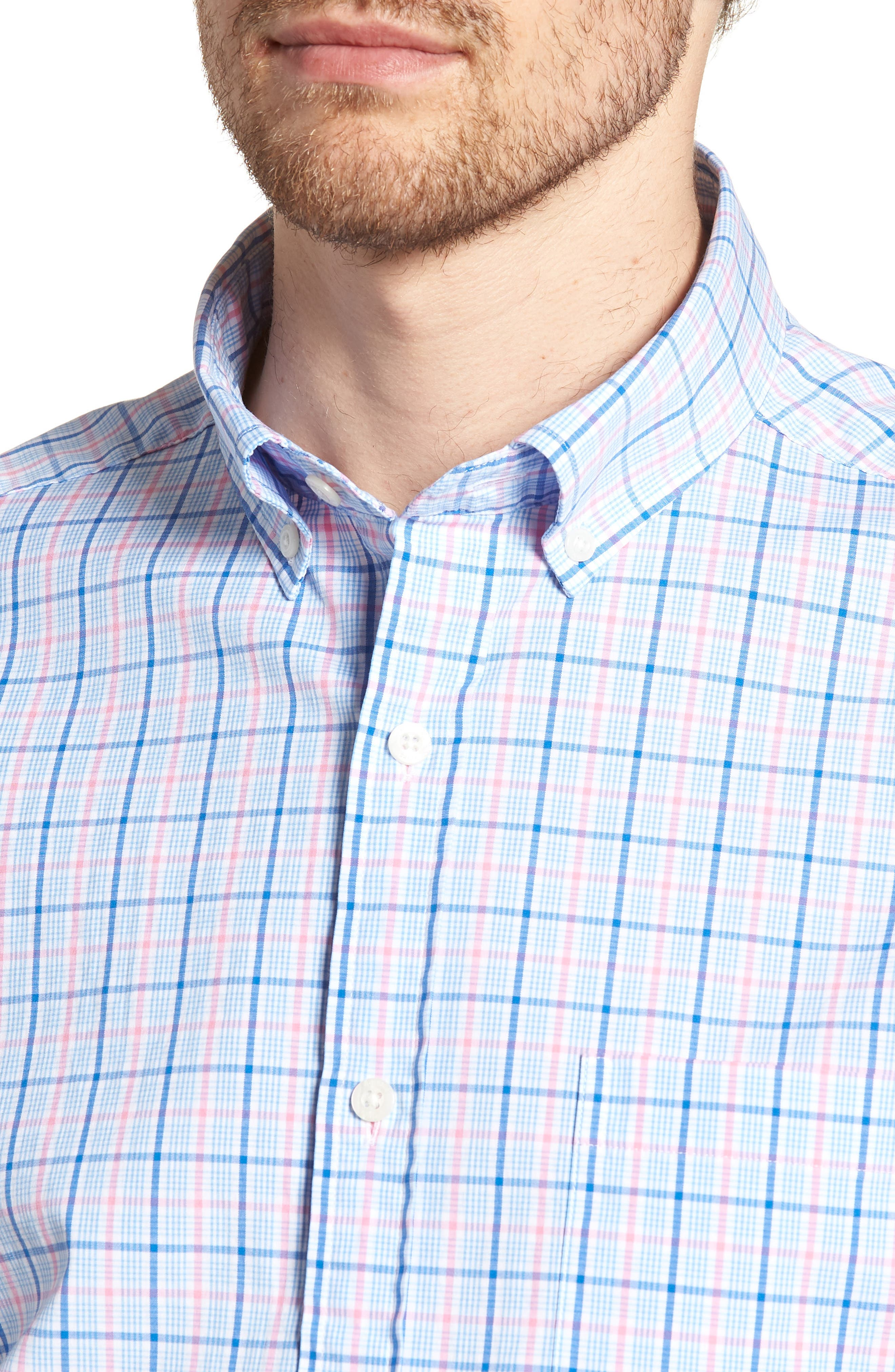 Sir Christie Classic Fit Check Sport Shirt,                             Alternate thumbnail 2, color,                             Spinnaker