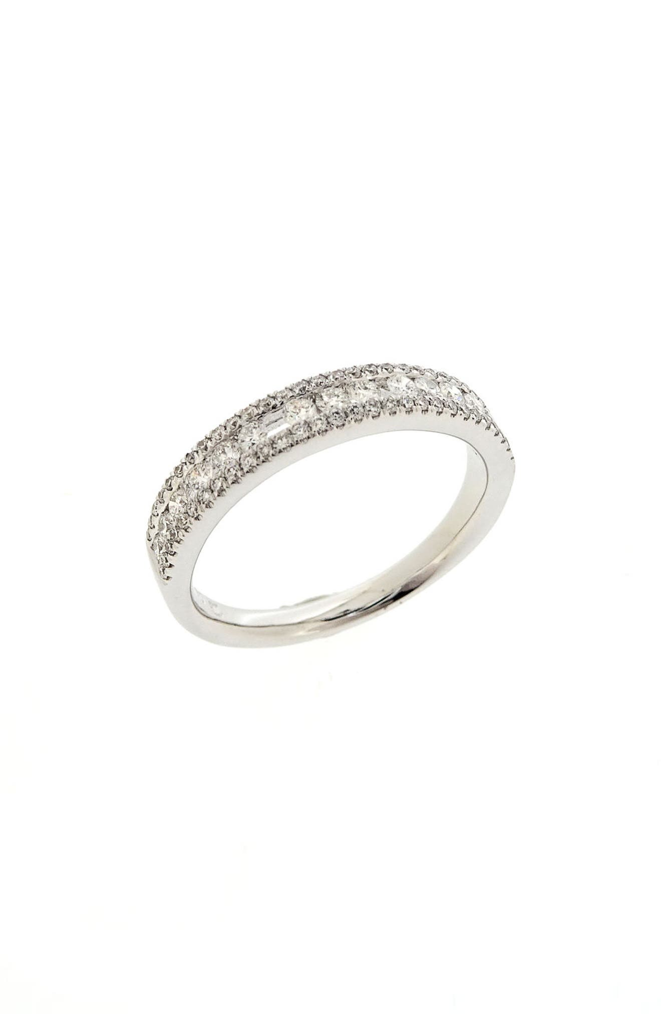 Amara Luxe Stackable Diamond Ring,                             Main thumbnail 1, color,                             White Gold