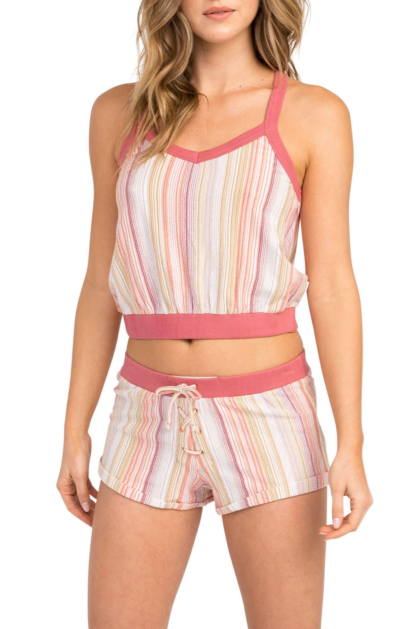 Such A Gem Stripe Shorts,                             Main thumbnail 1, color,                             Horizon Red