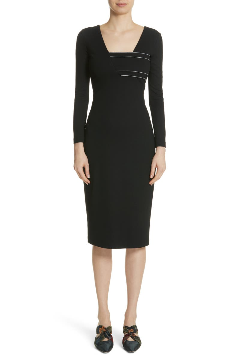 Bandeau Detail Jersey Dress