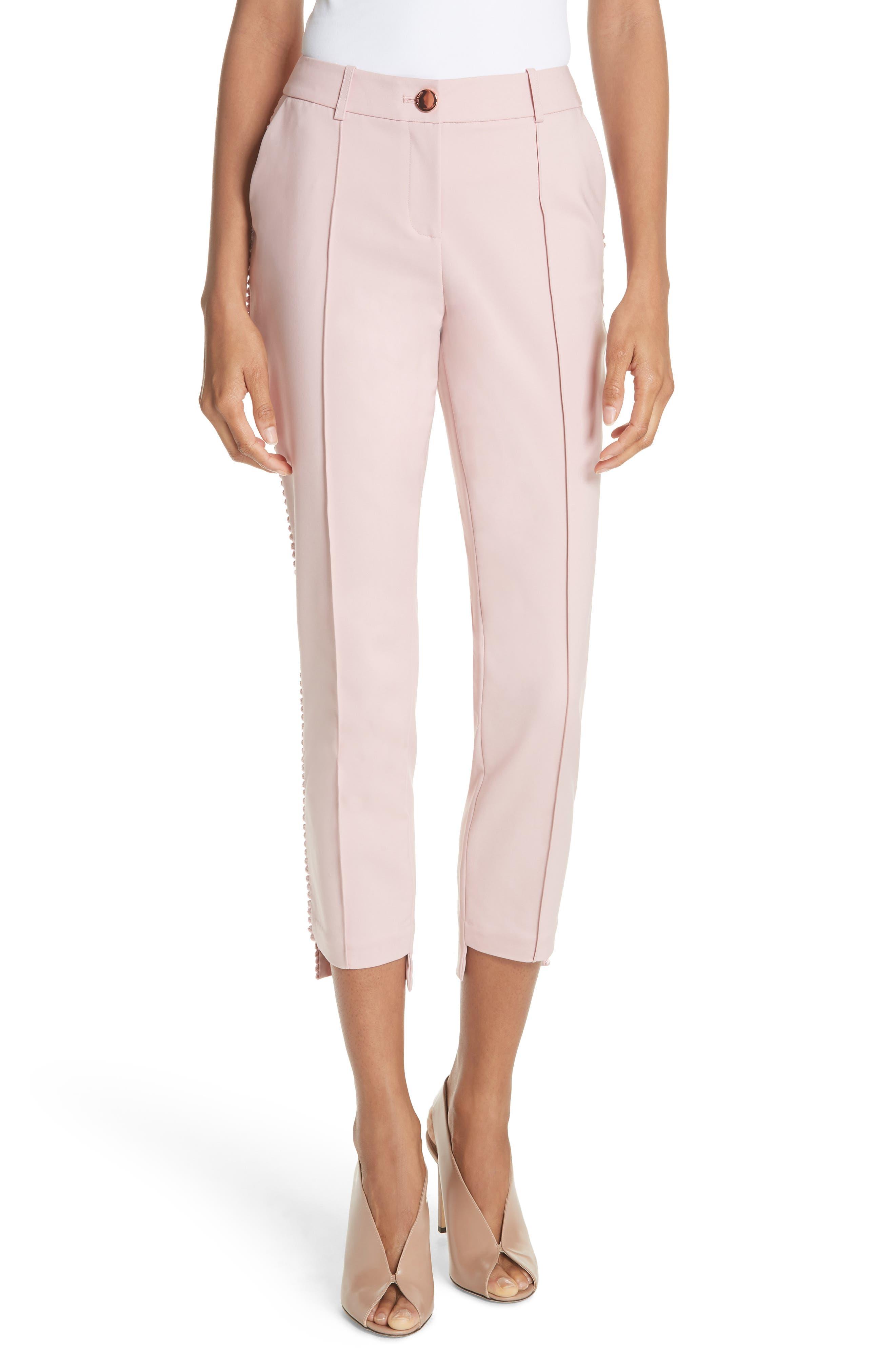Step Hem Ankle Grazer Pants,                         Main,                         color, Baby Pink
