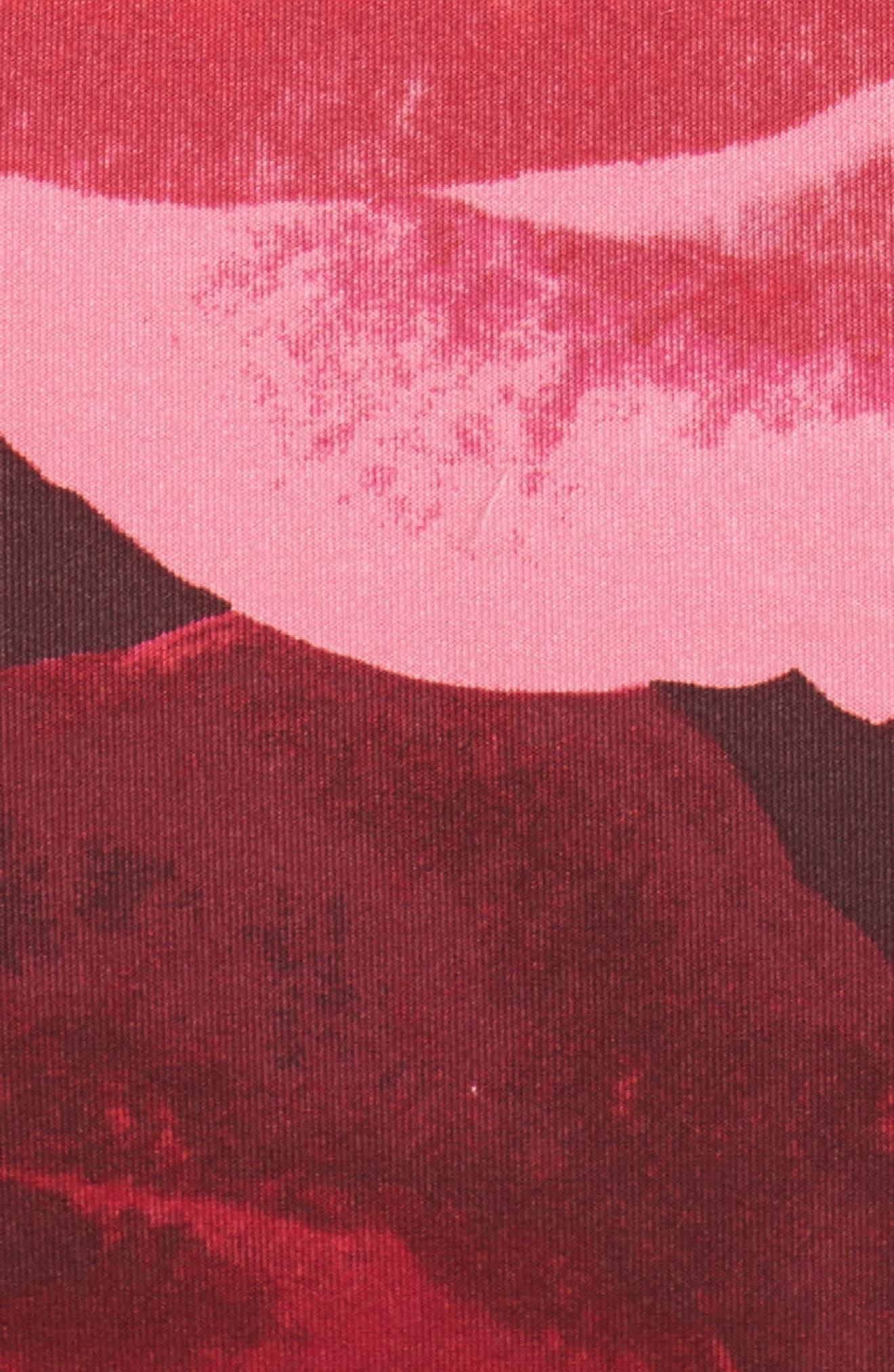 Floral Print Scuba Crepe Dress,                             Alternate thumbnail 5, color,                             Magenta