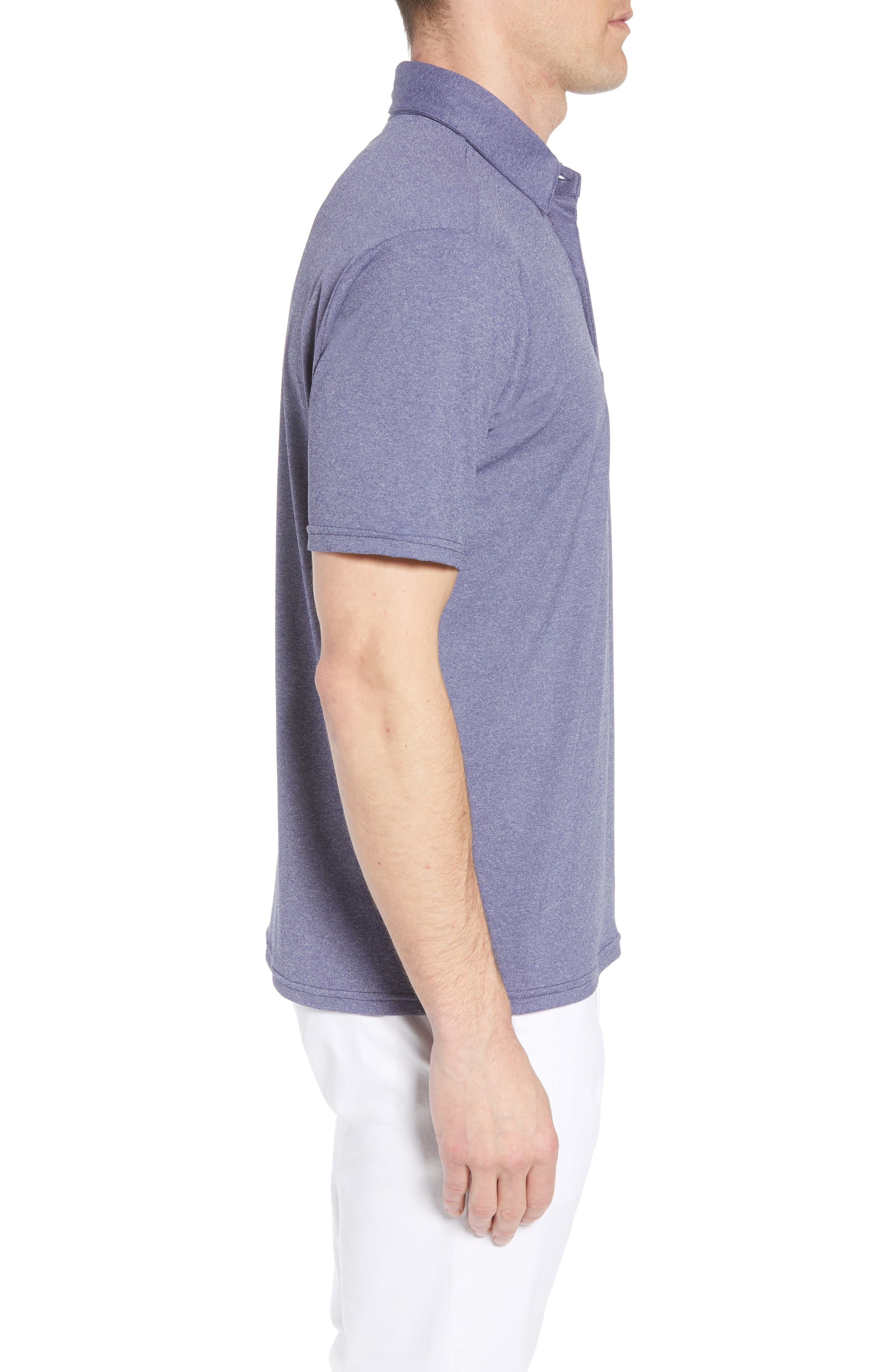 Slim Fit Active Polo,                             Alternate thumbnail 3, color,                             Ashe Navy