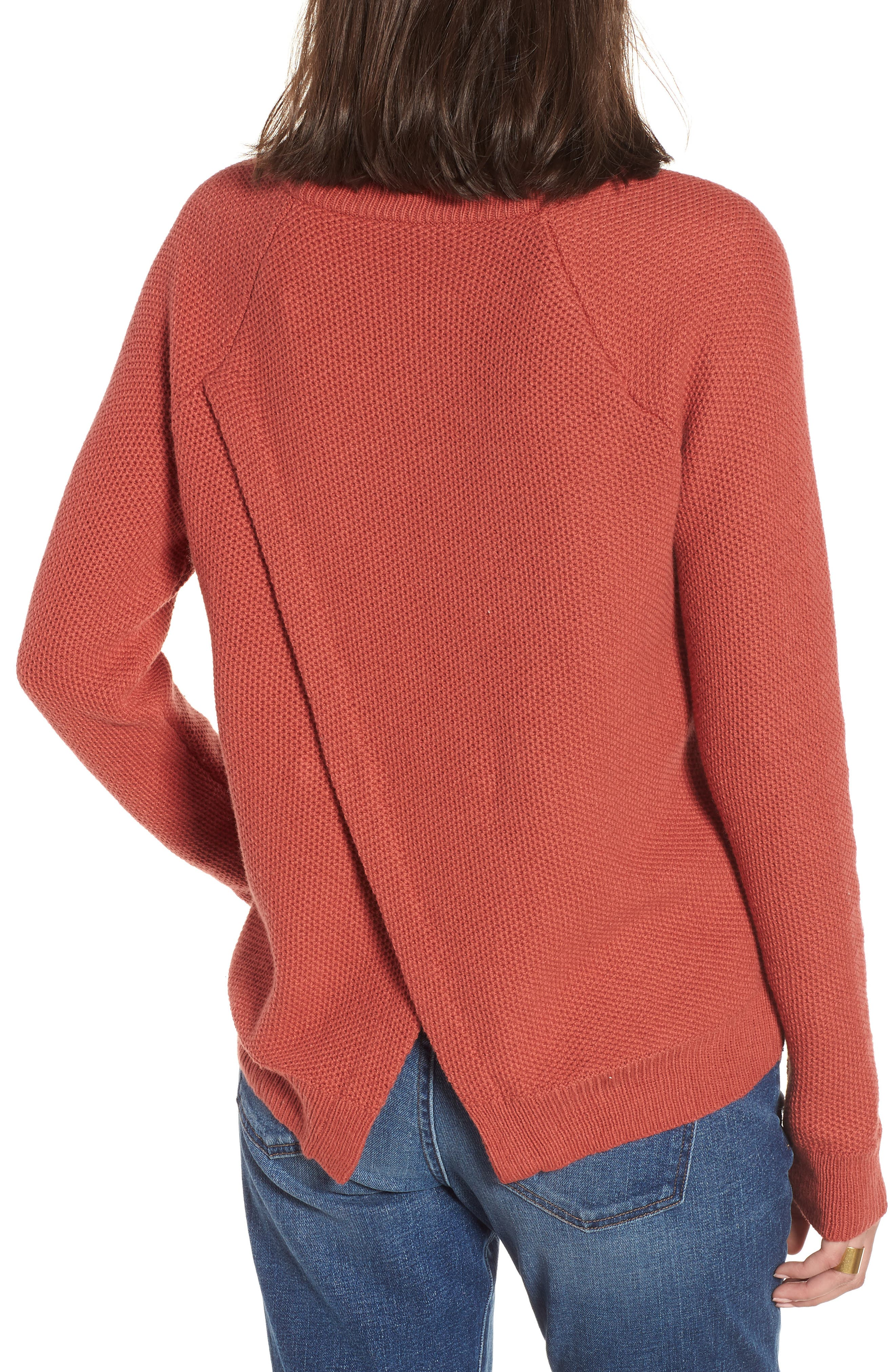 Province Cross Back Knit Pullover,                             Alternate thumbnail 2, color,                             Spiced Rose