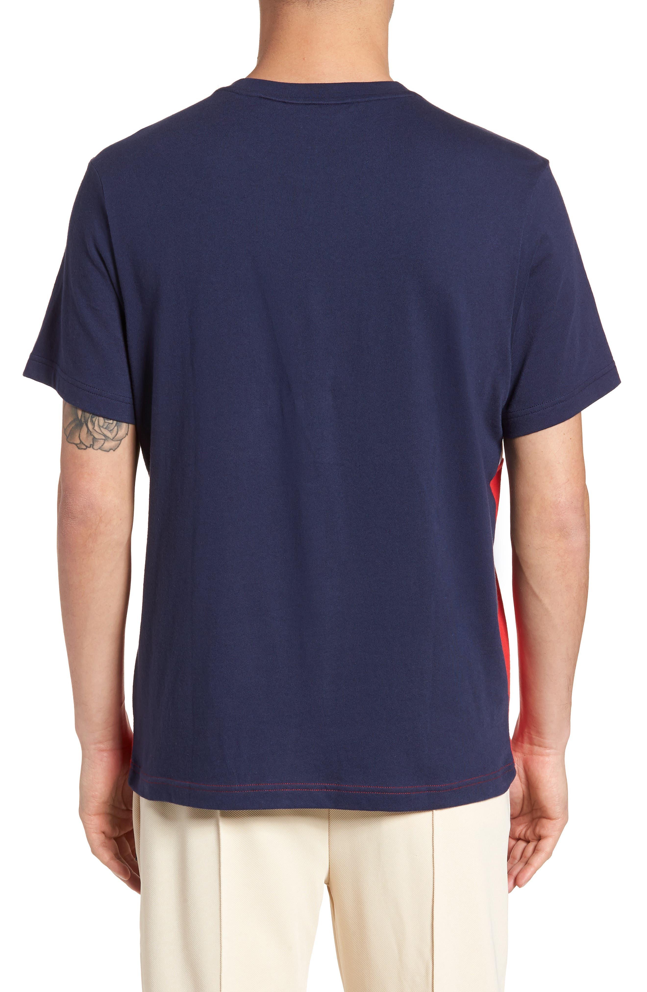 Biella Italia T-Shirt,                             Alternate thumbnail 2, color,                             Navy/ White/ Red