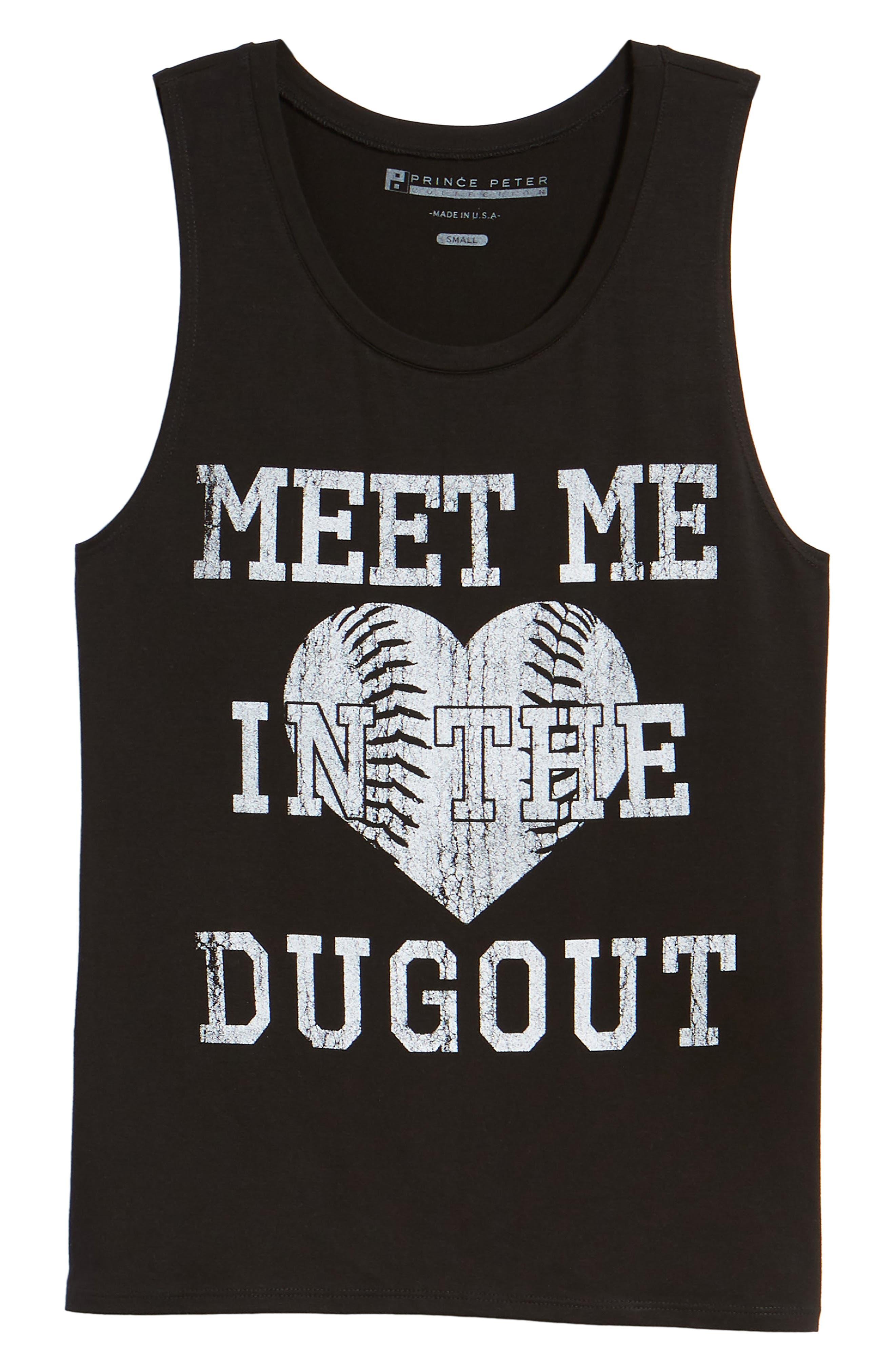 Meet Me in the Dugout Tank,                             Alternate thumbnail 7, color,                             Black