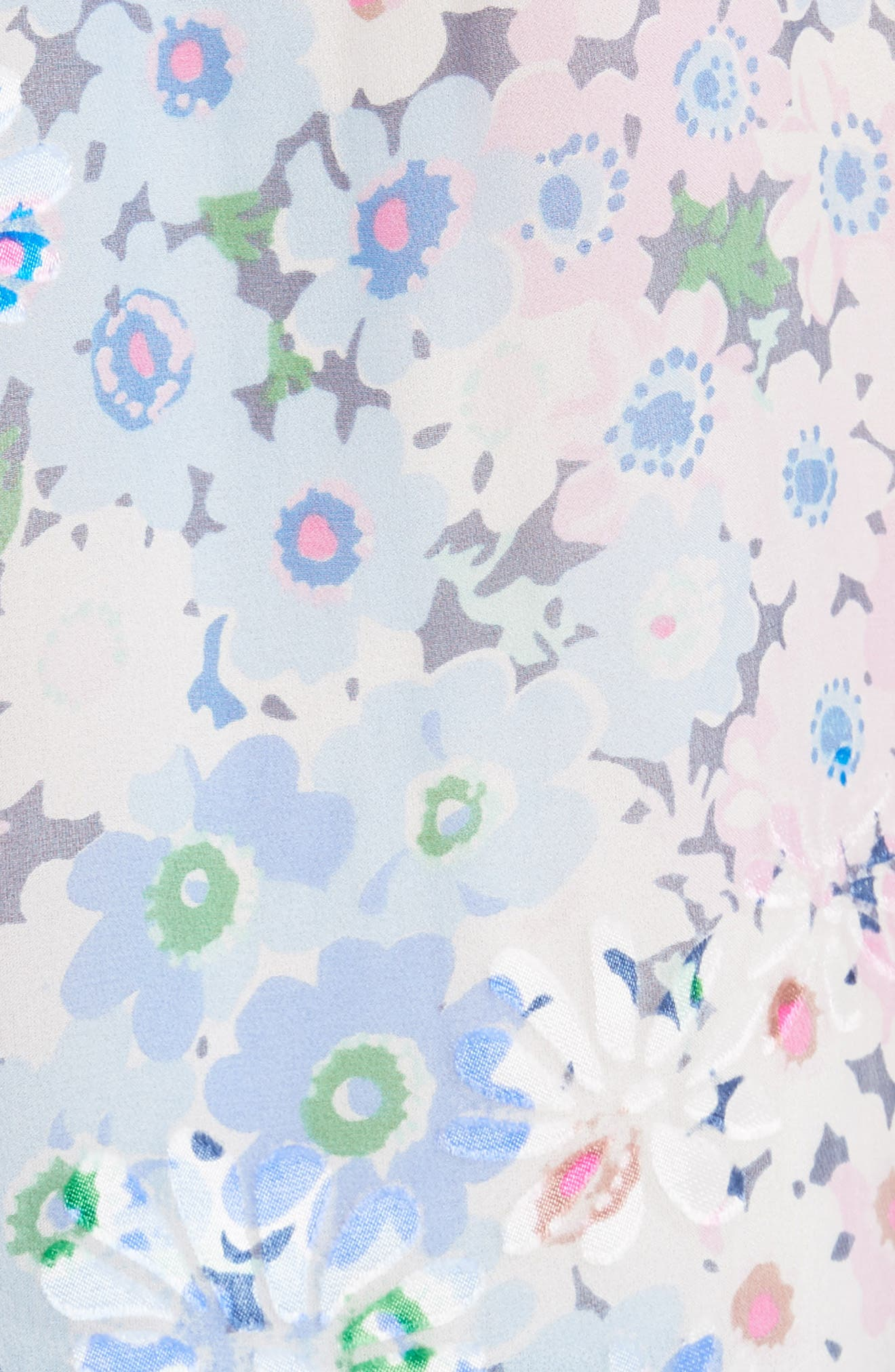 daisy garden devore silk blend top,                             Alternate thumbnail 5, color,                             Multi