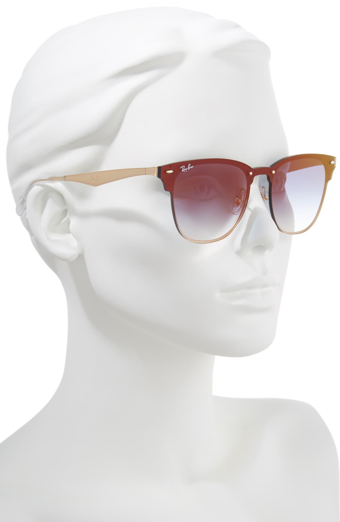 Blaze Clubmaster 47mm Sunglasses,                             Alternate thumbnail 2, color,                             Gold