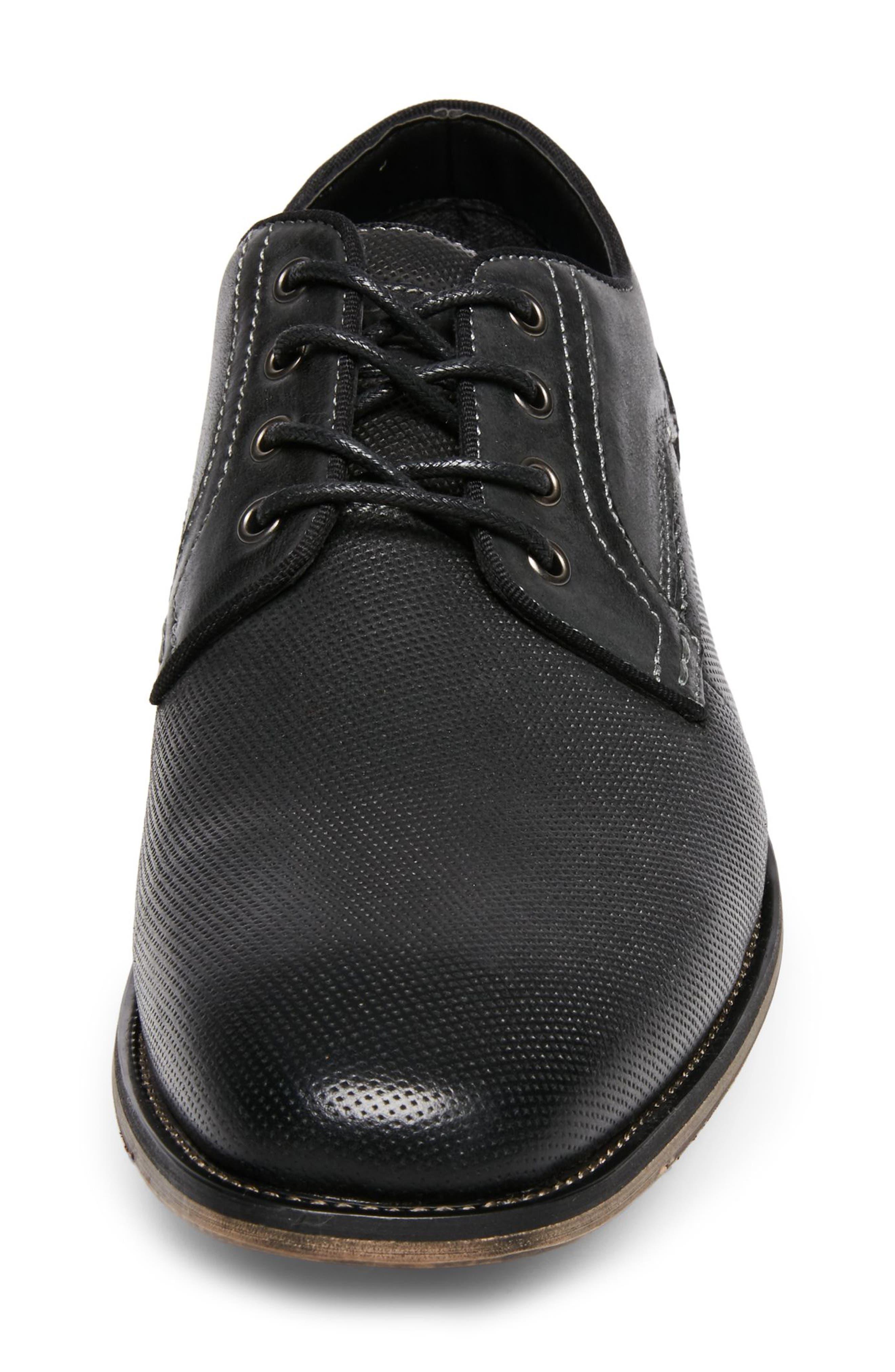 Jaysun Embossed Plain Toe Derby,                             Alternate thumbnail 4, color,                             Dark Grey Leather
