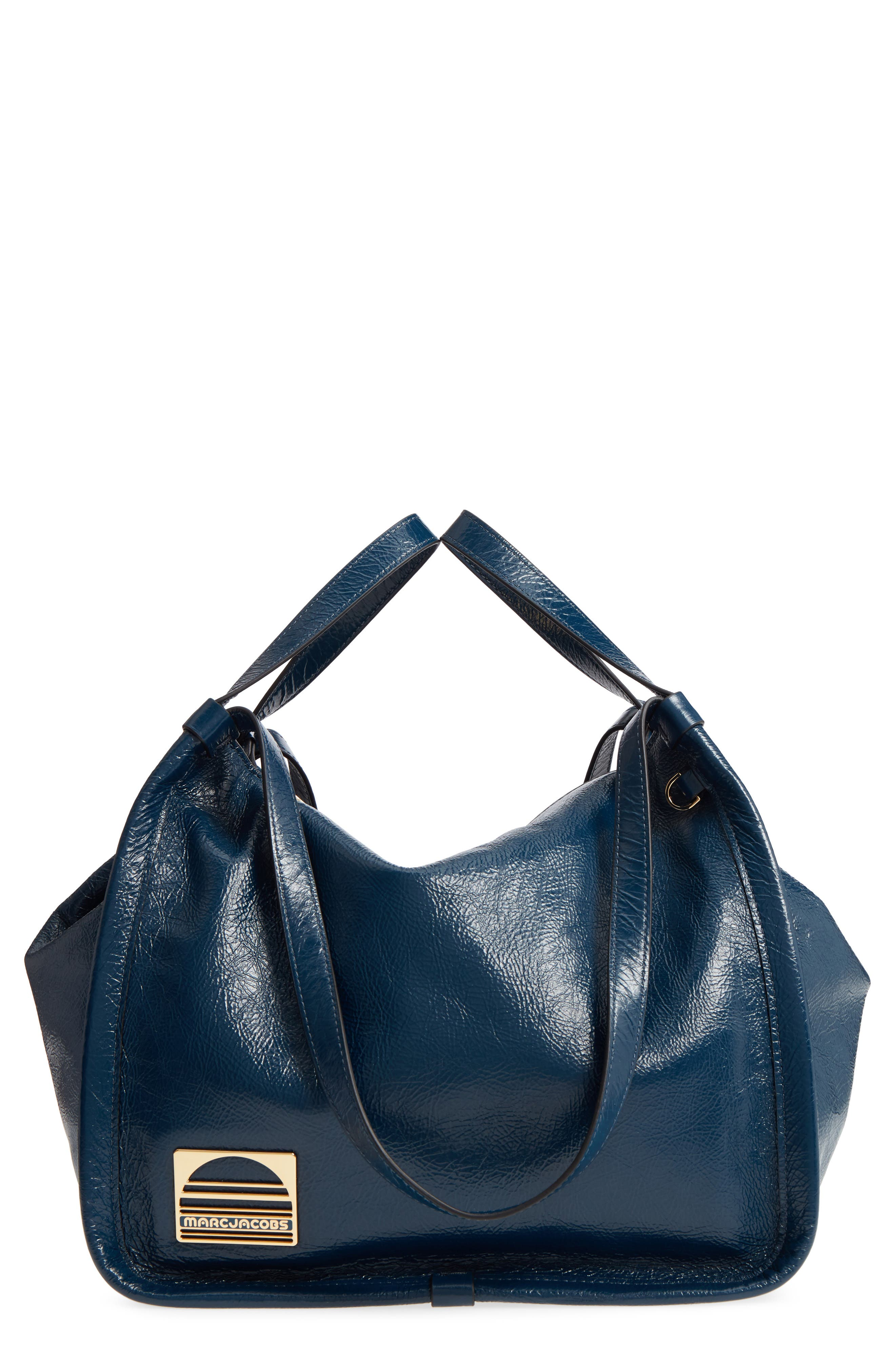 Leather Sport Tote,                             Main thumbnail 1, color,                             Island Blue