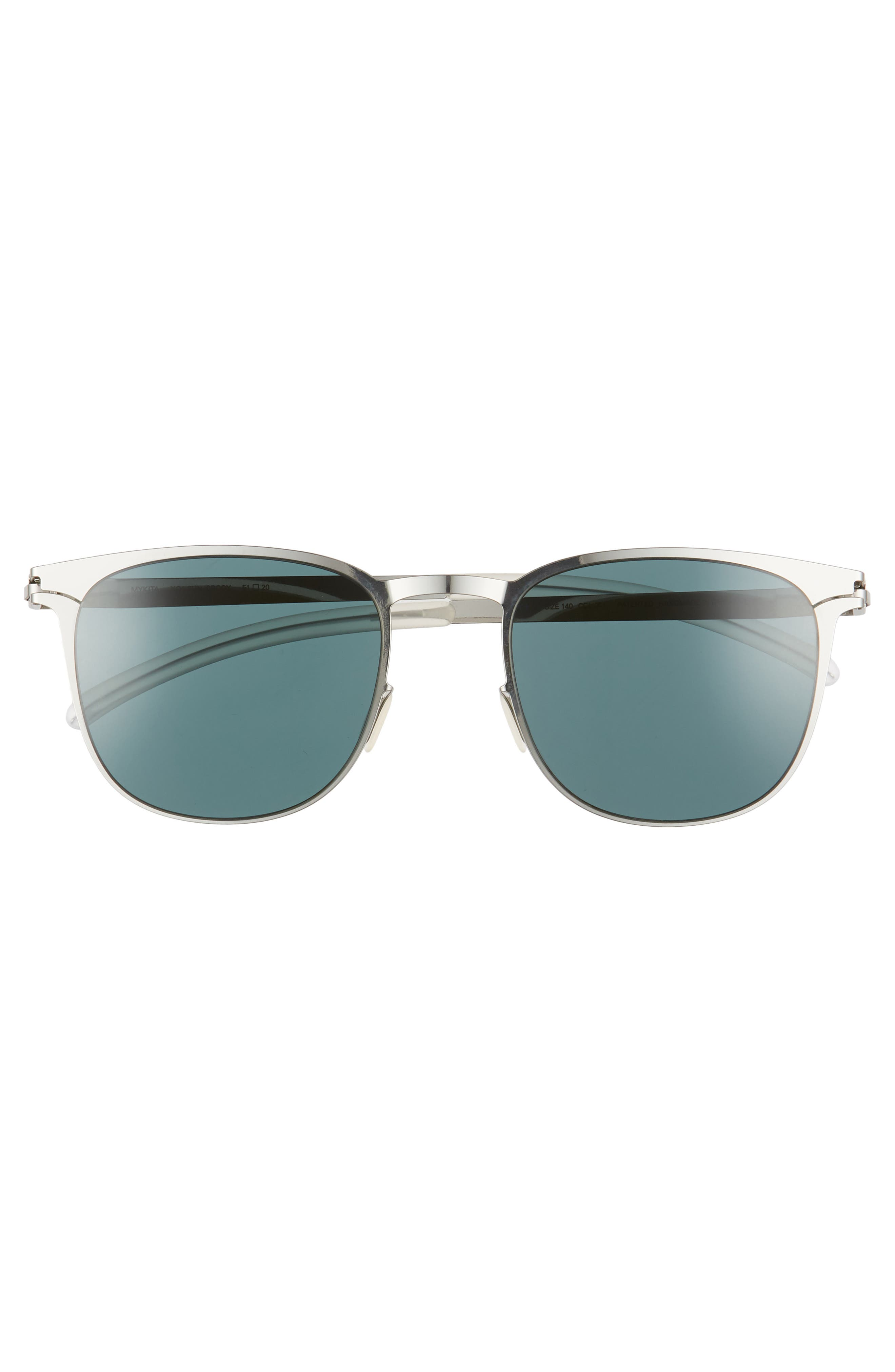 Brody 51mm Polarized Sunglasses,                             Alternate thumbnail 2, color,                             Shiny Silver