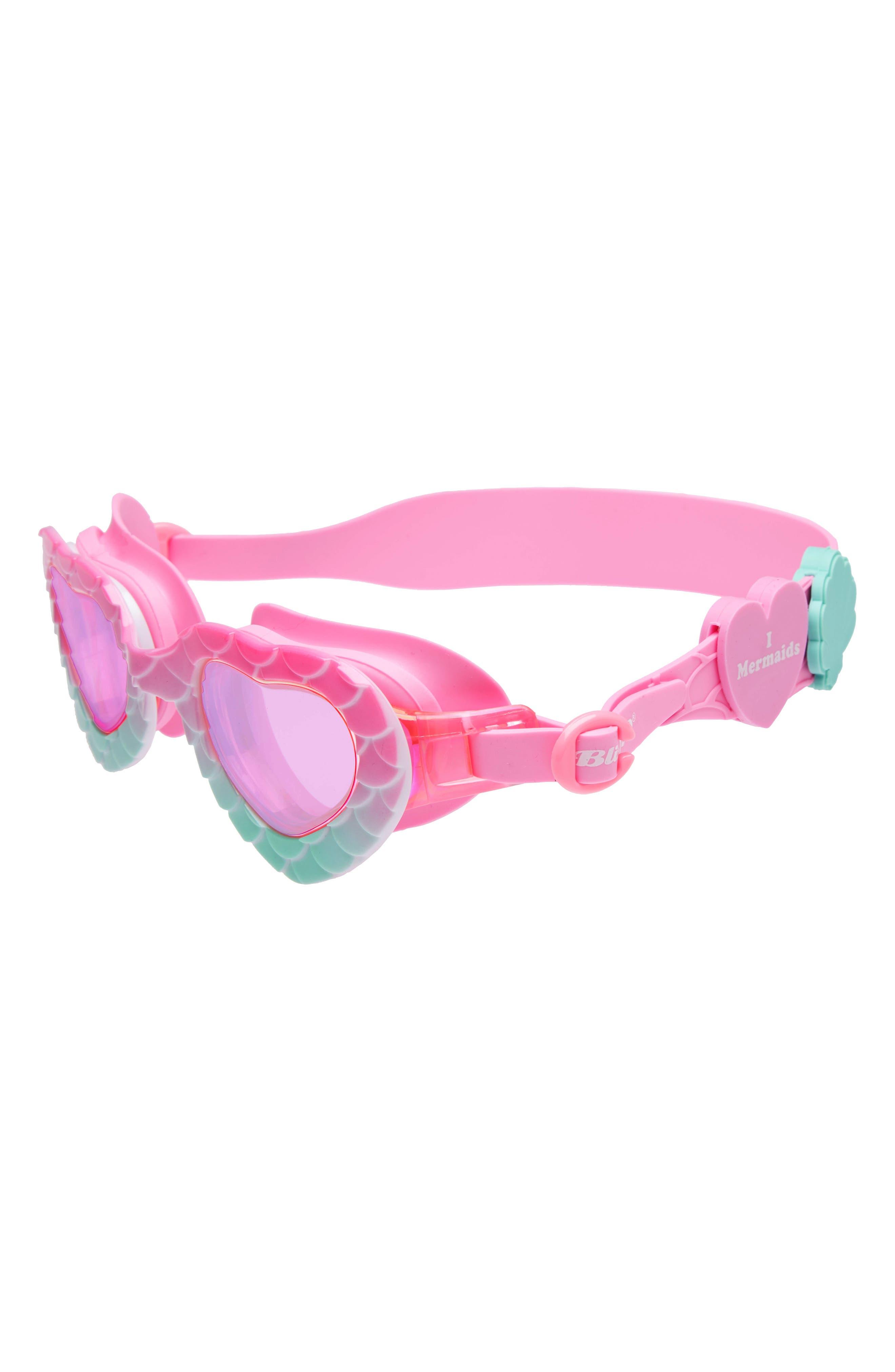 I Love Mermaids Swim Goggles,                         Main,                         color, Green