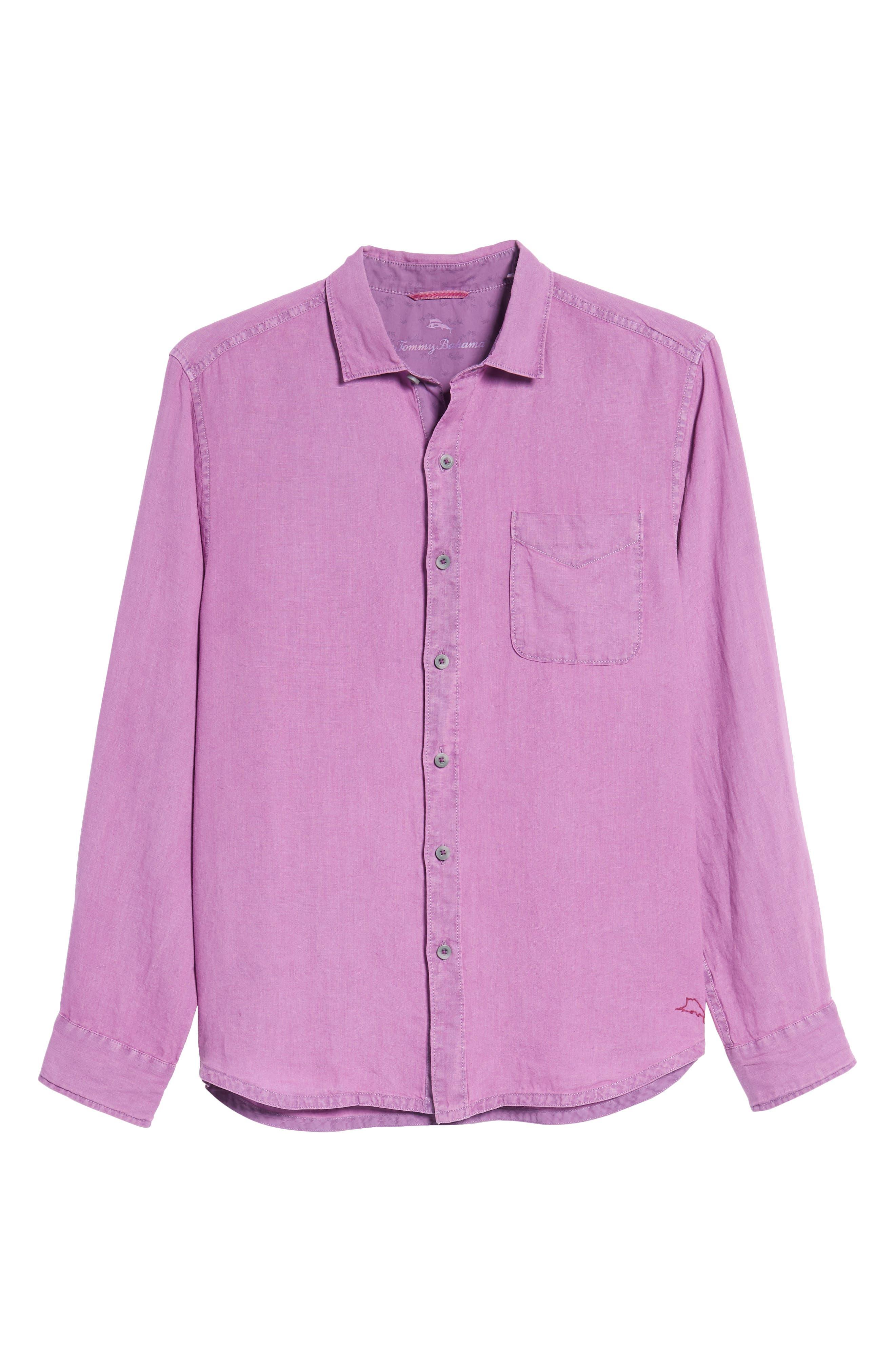 Alternate Image 6  - Tommy Bahama Seaspray Breezer Standard Fit Linen Sport Shirt