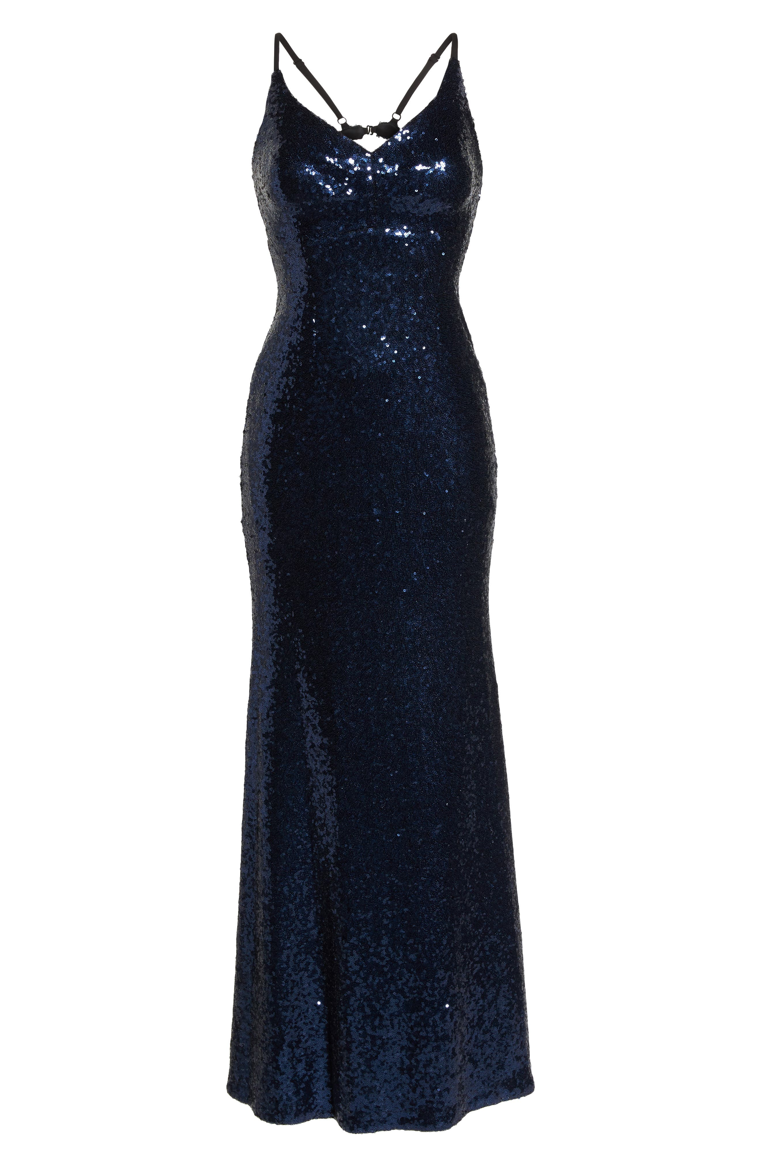 Alternate Image 6  - Morgan & Co. Keyhole Back Sequin Gown