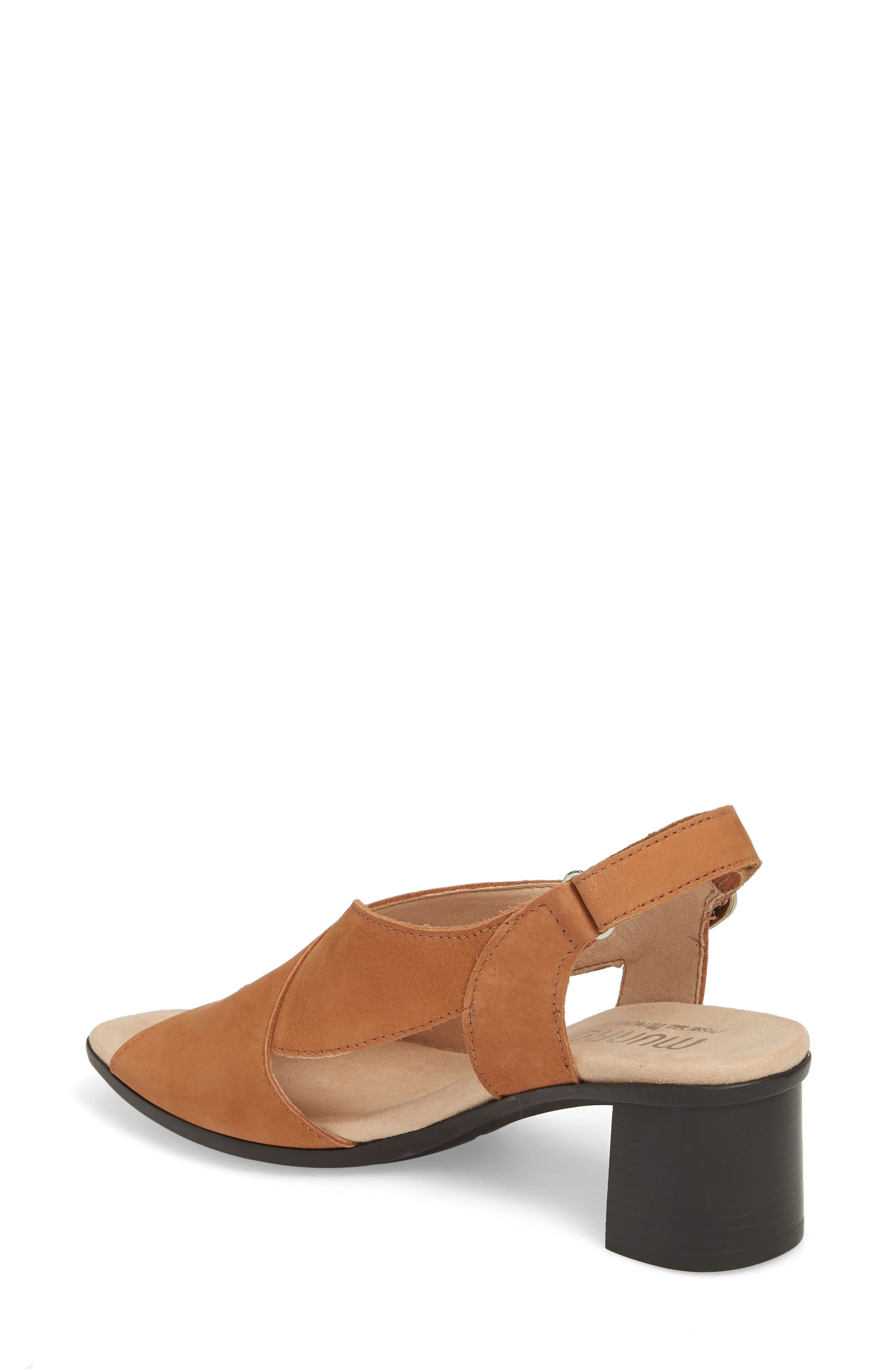 Laine Block Heel Sandal,                             Alternate thumbnail 2, color,                             Brown Nubuck Leather