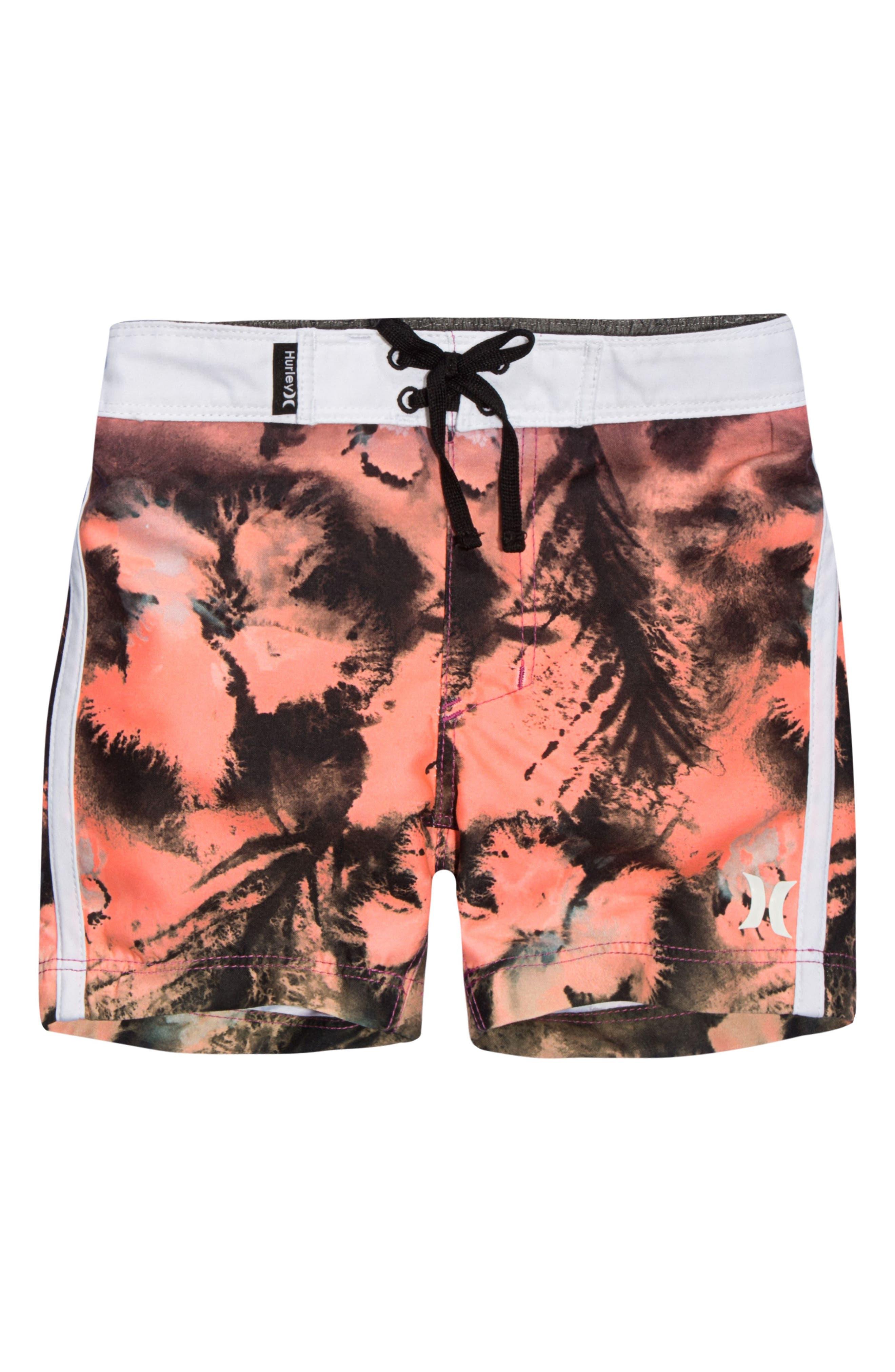 Print Board Shorts,                         Main,                         color, Fuschia Glow