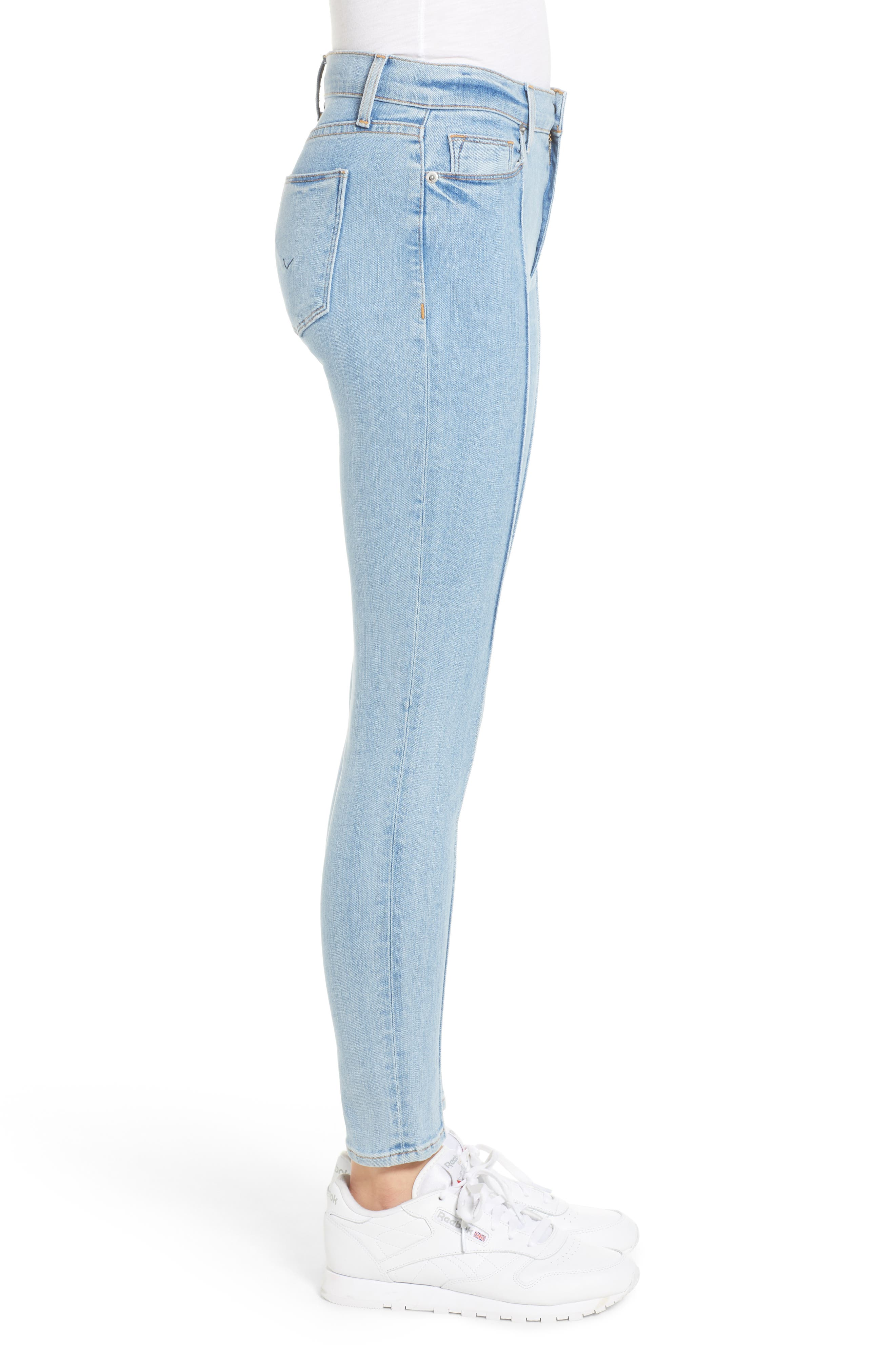 Barbara High Waist Super Skinny Jeans,                             Alternate thumbnail 3, color,                             Nymph
