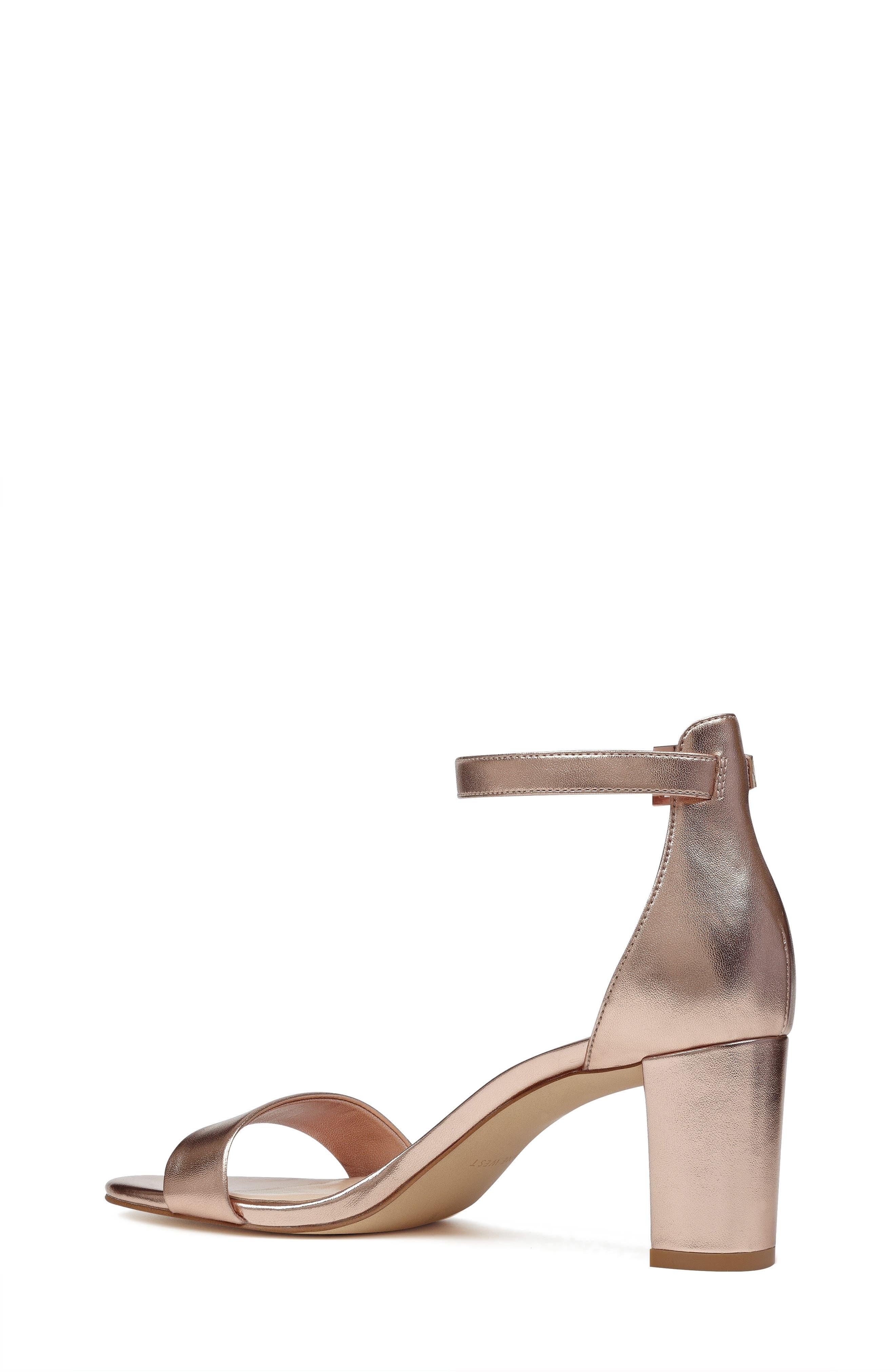 Pruce Ankle Strap Sandal,                             Alternate thumbnail 2, color,                             Matte Rose Gold