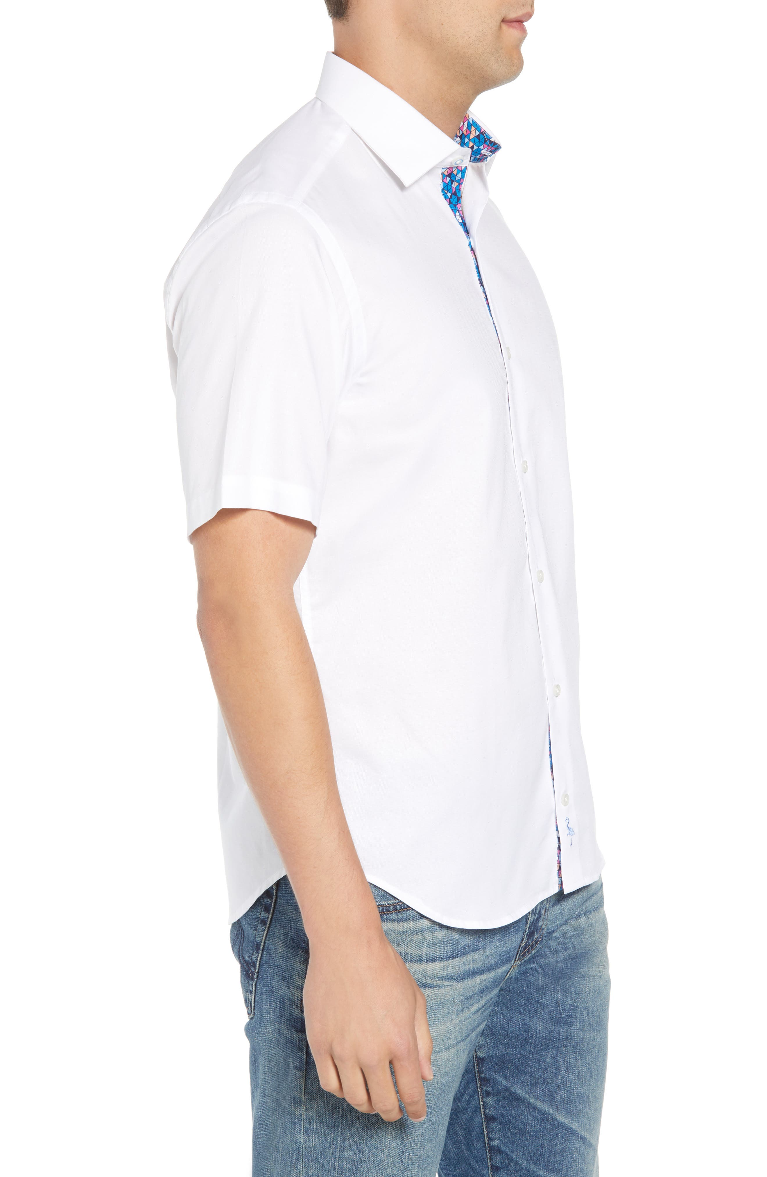 Abbott Regular Fit Sport Shirt,                             Alternate thumbnail 4, color,                             White