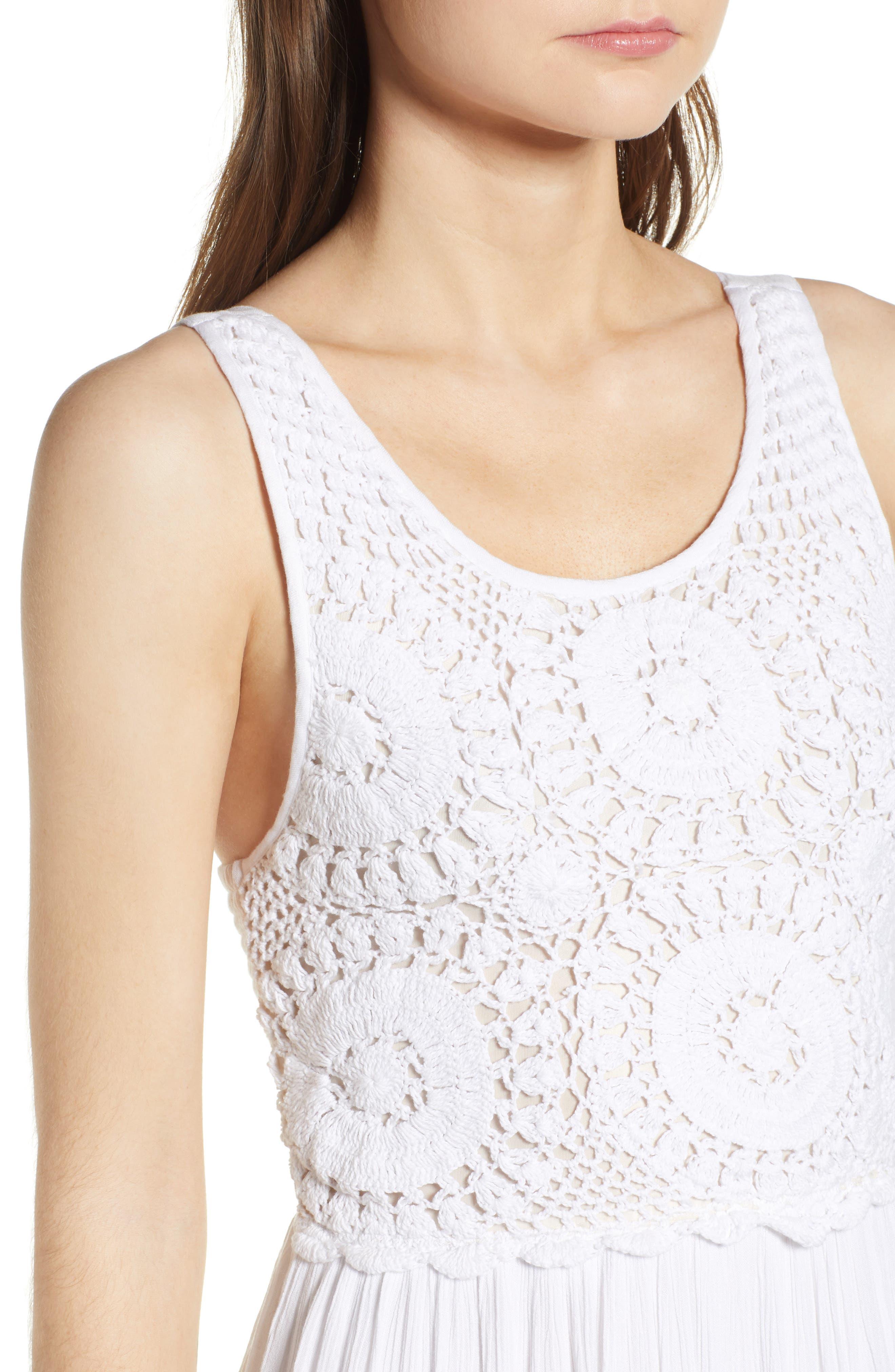 Bishop + Young Bora Bora Maxi Dress,                             Alternate thumbnail 4, color,                             White