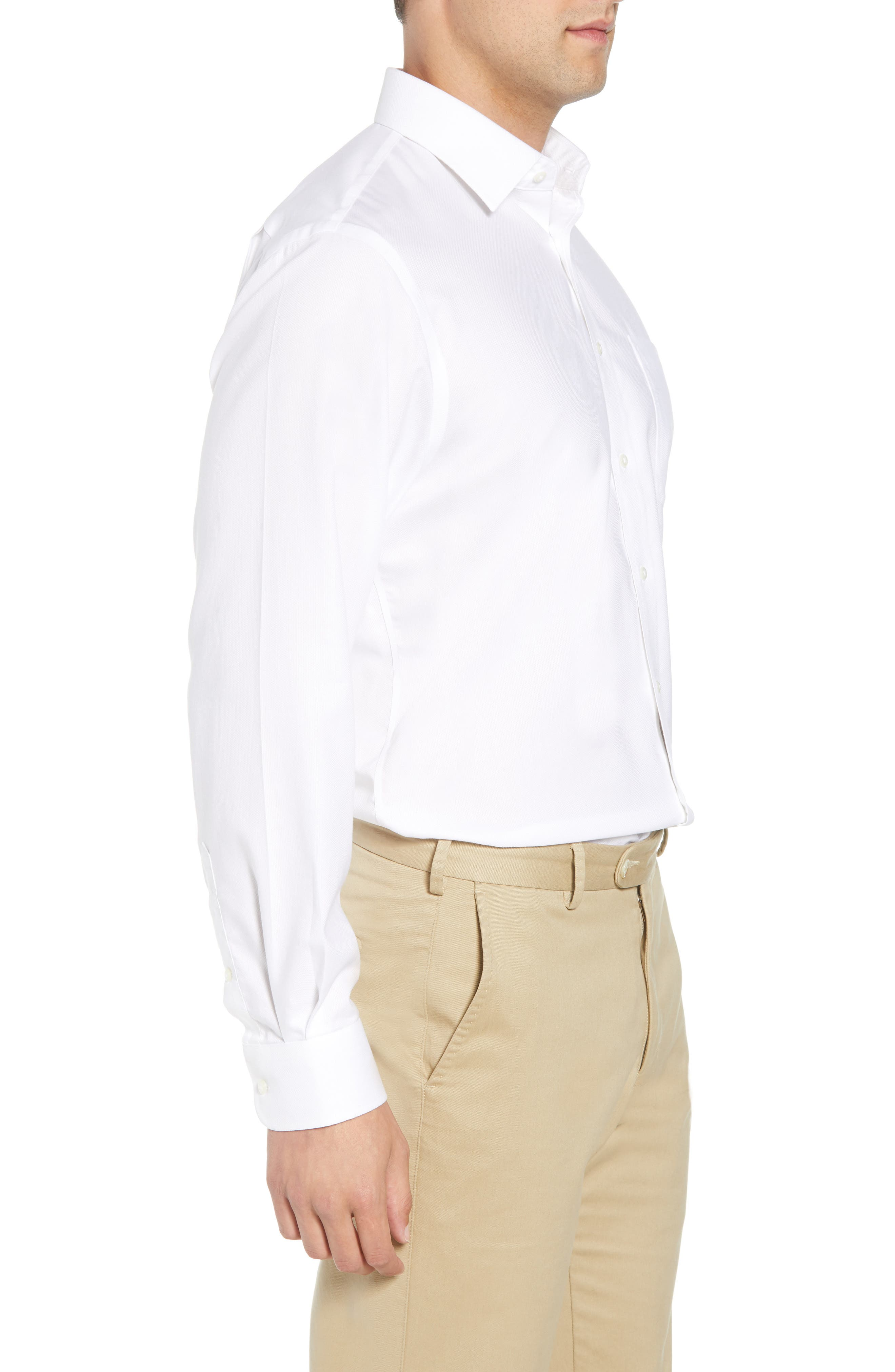 Smartcare<sup>™</sup> Traditional Fit Solid Dress Shirt,                             Alternate thumbnail 4, color,                             White