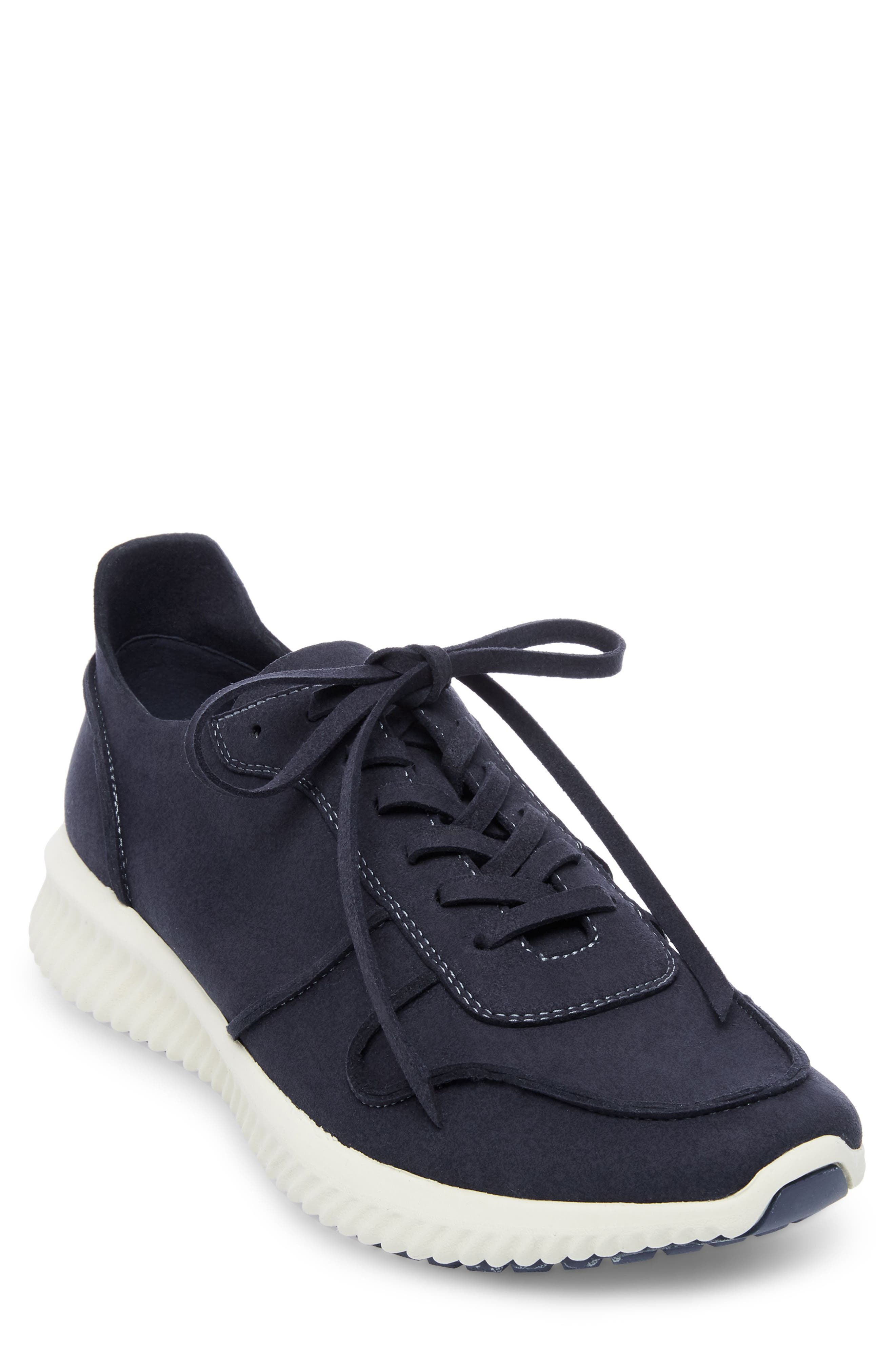 Rolf Low Top Sneaker,                             Main thumbnail 1, color,                             Navy Leather