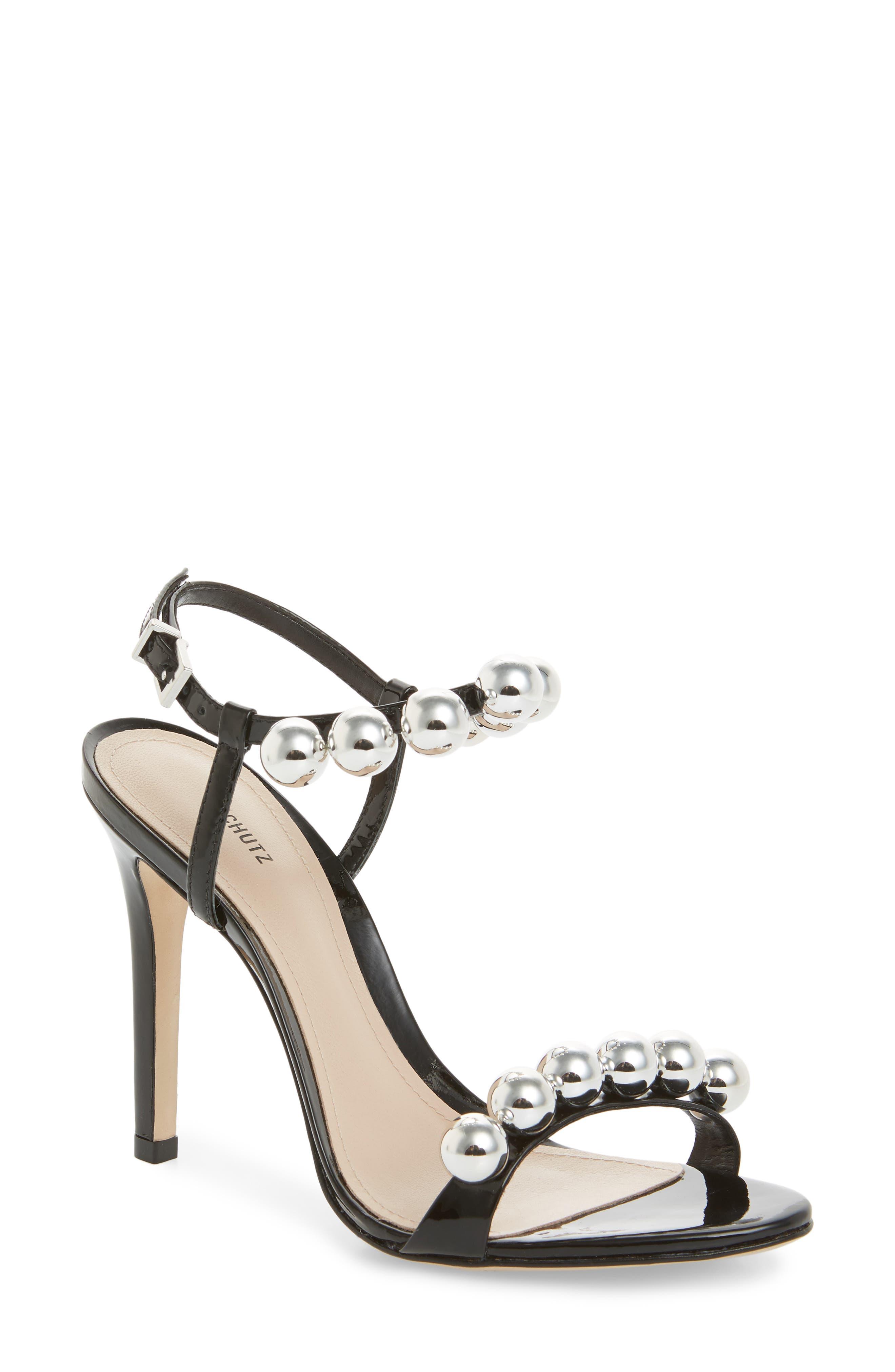 Nellie Sandal, Black Leather
