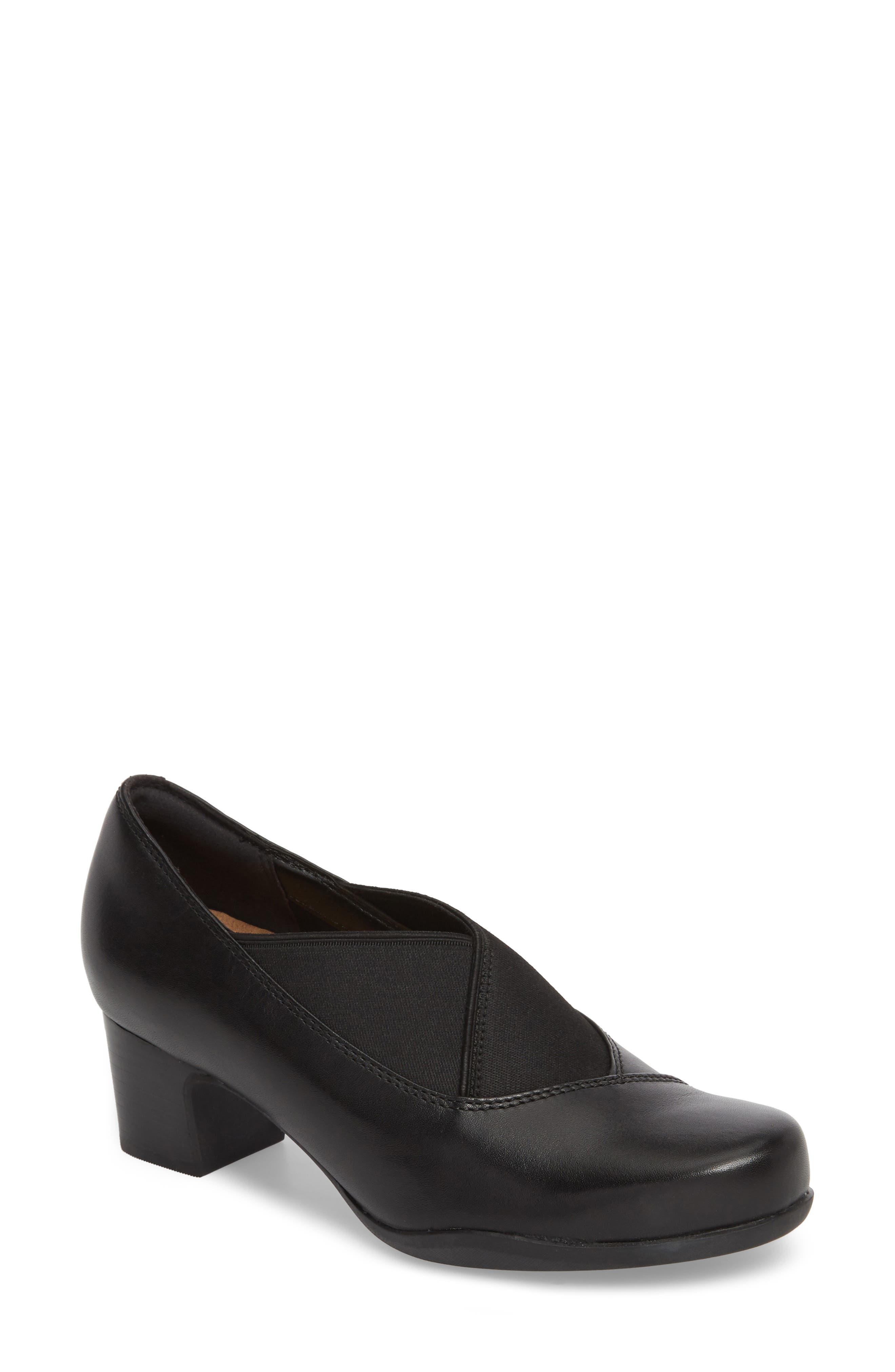 Rosalyn Olivia Pump,                         Main,                         color, Black Leather