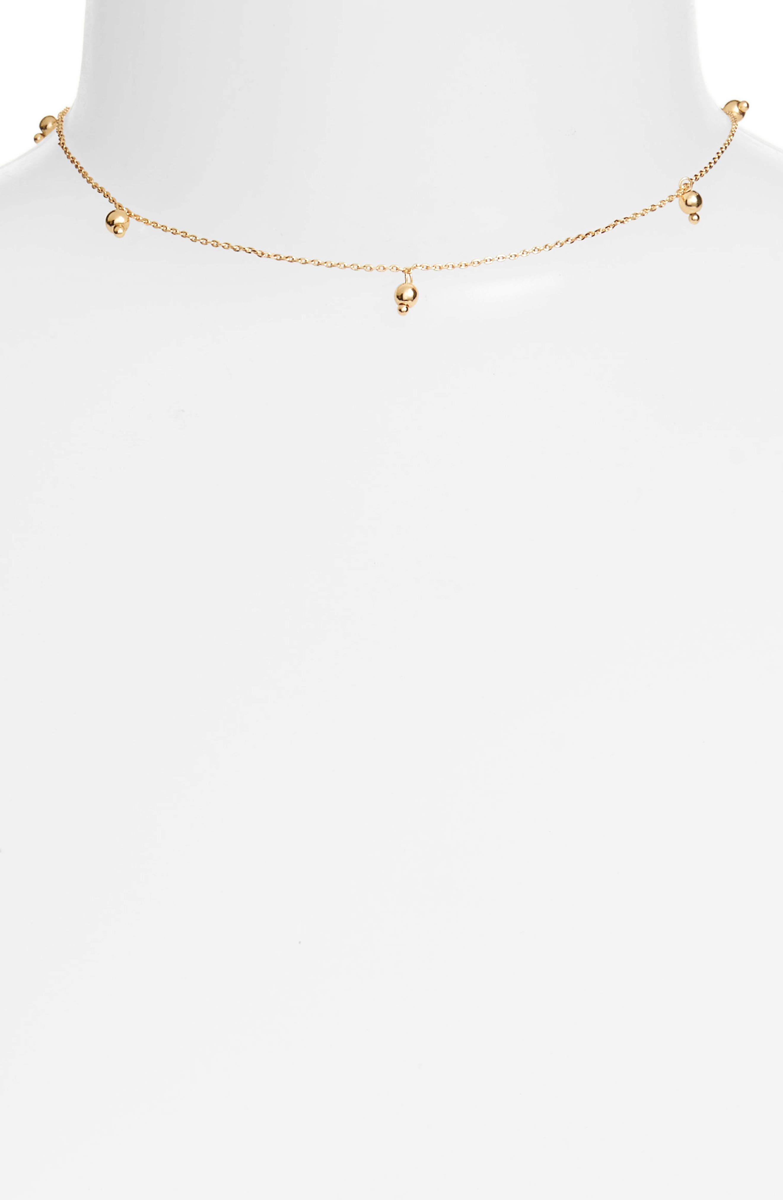 All Day Necklace,                         Main,                         color, Gold