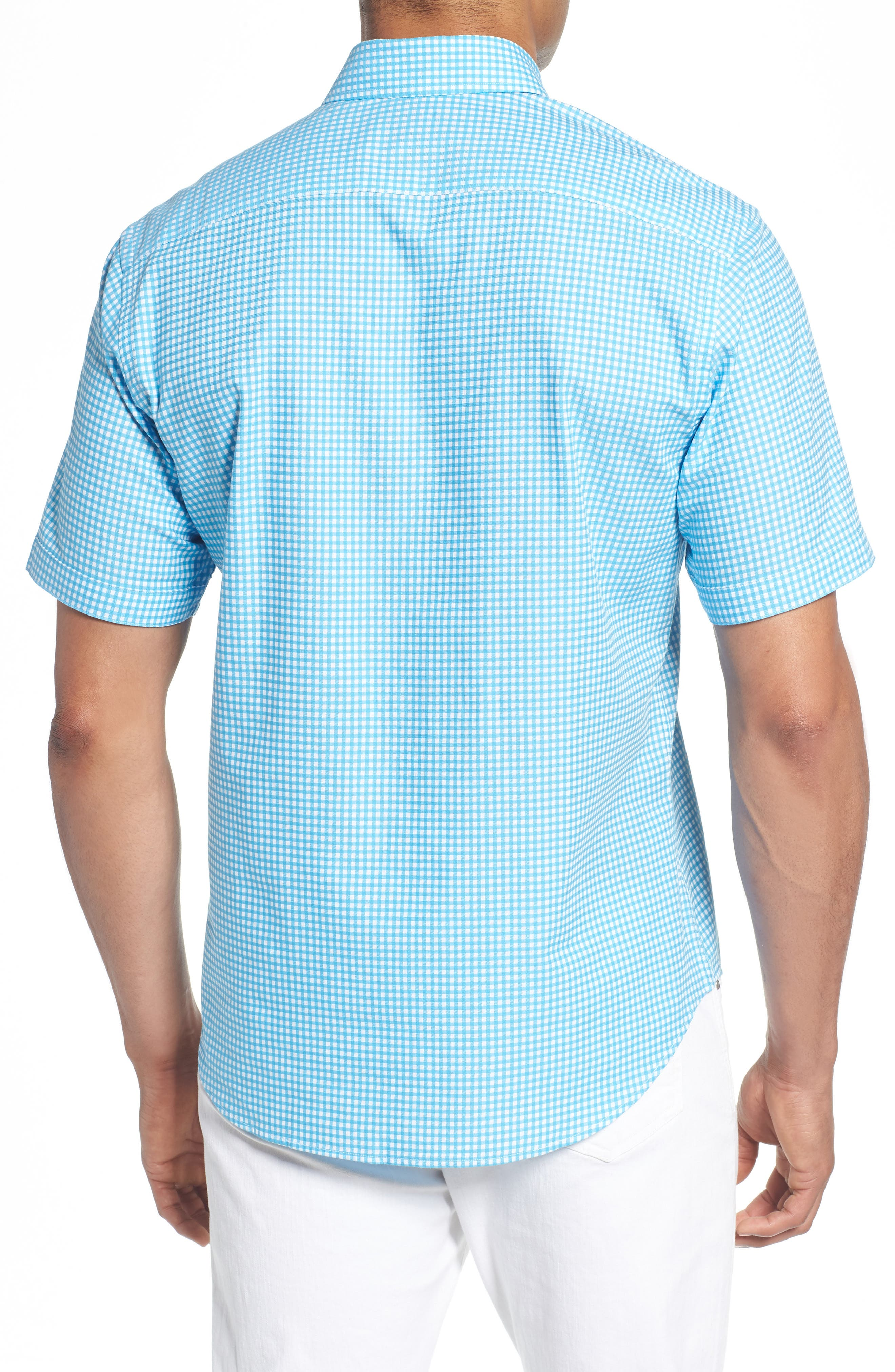 Aden Regular Fit Sport Shirt,                             Alternate thumbnail 2, color,                             Aqua