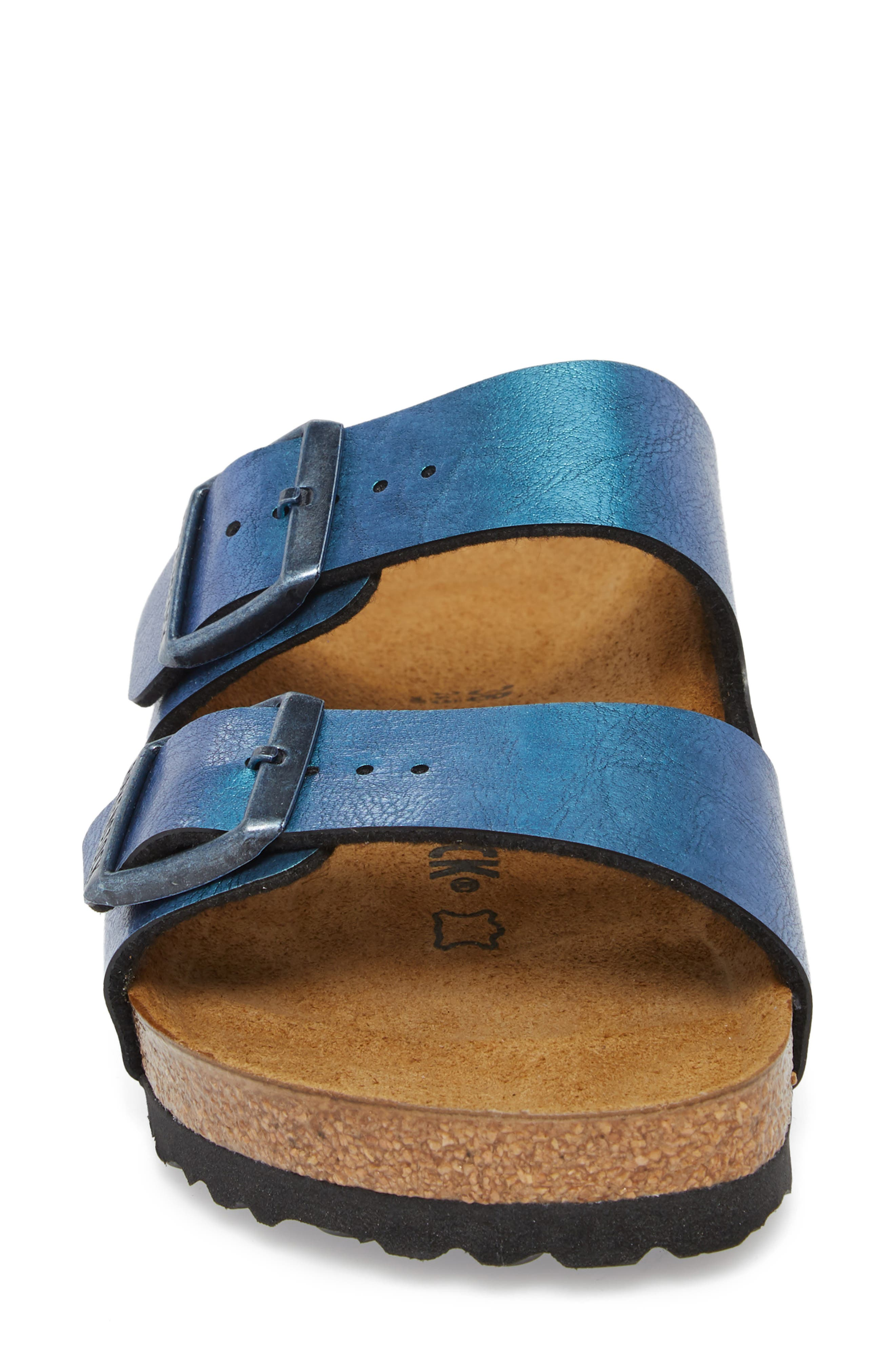 Arizona Graceful Birko-Flor<sup>™</sup> Sandal,                             Alternate thumbnail 4, color,                             Blue