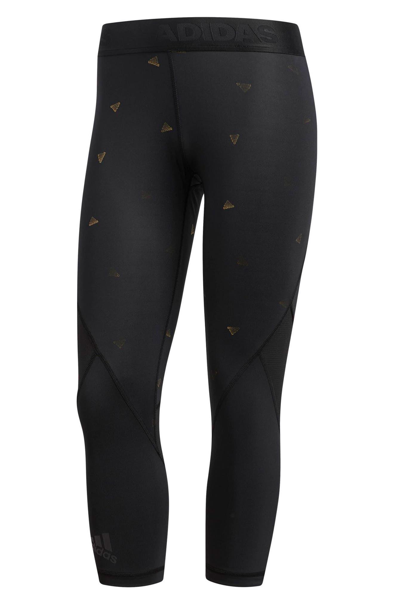Alphaskin Sport Capri Leggings,                             Alternate thumbnail 5, color,                             Black / Print