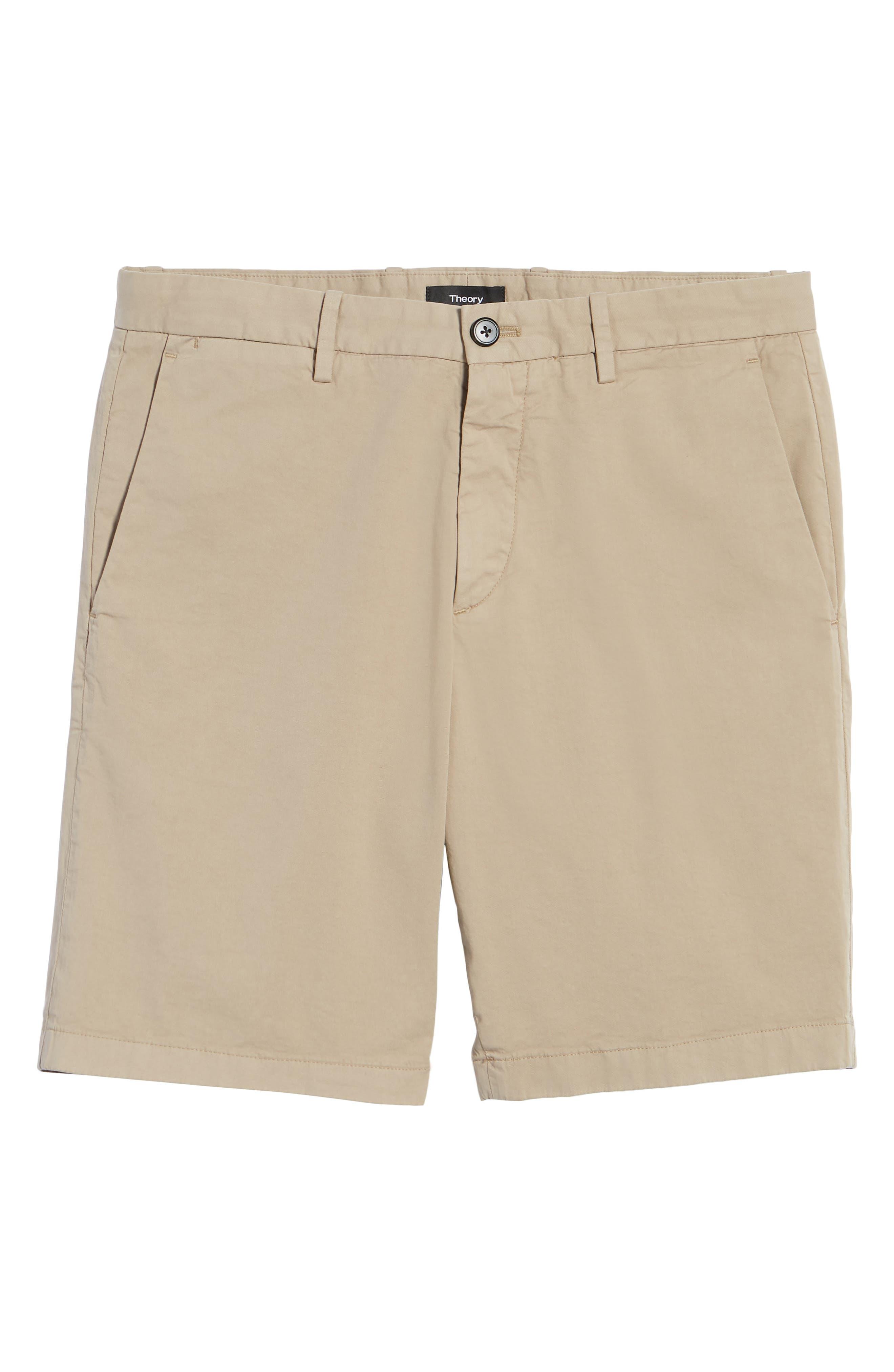Zaine Stretch Cotton Shorts,                             Alternate thumbnail 6, color,                             Bark
