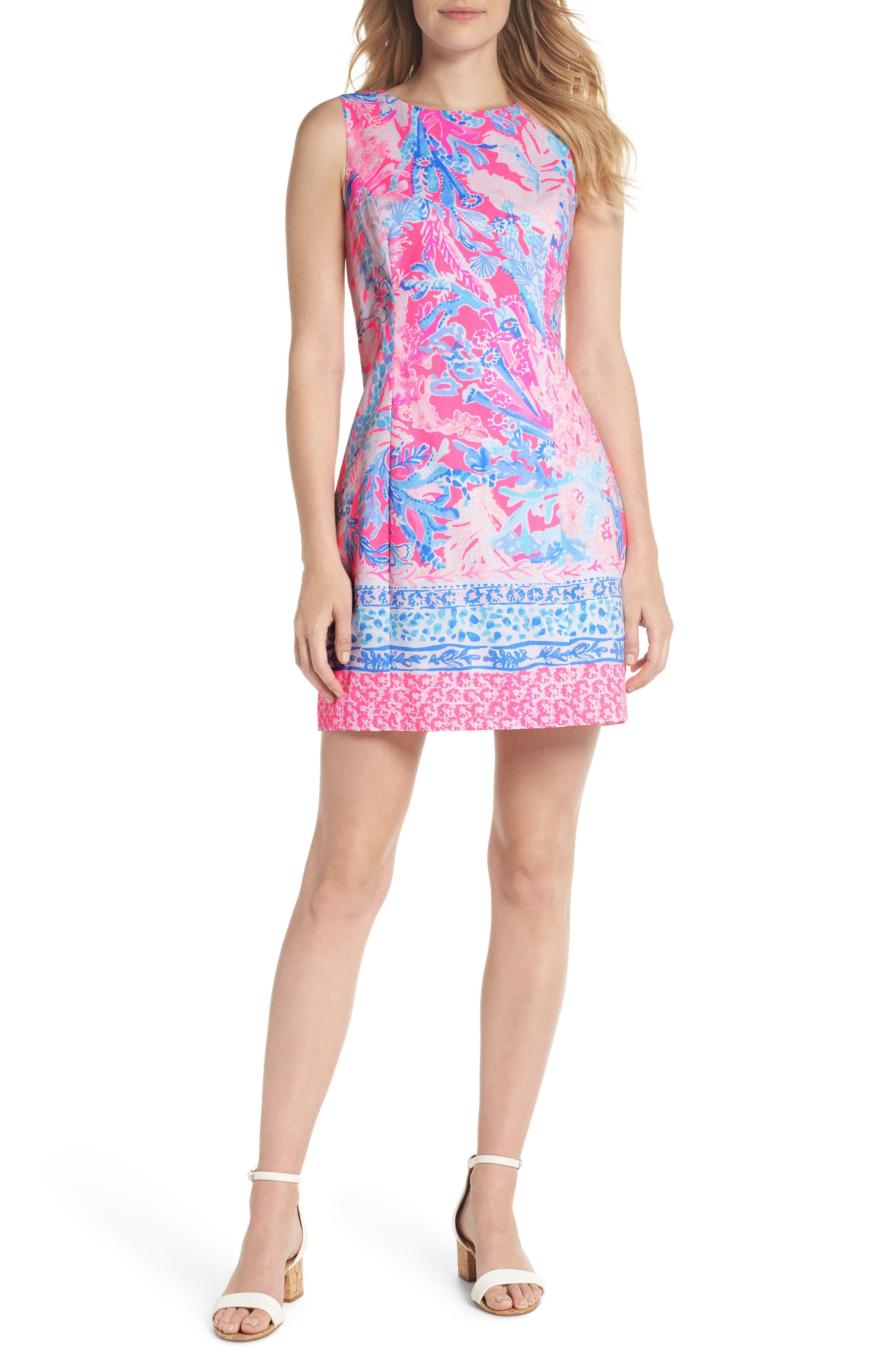 Mila Sheath Dress,                         Main,                         color, Light Pascha Pink Aquadesiac