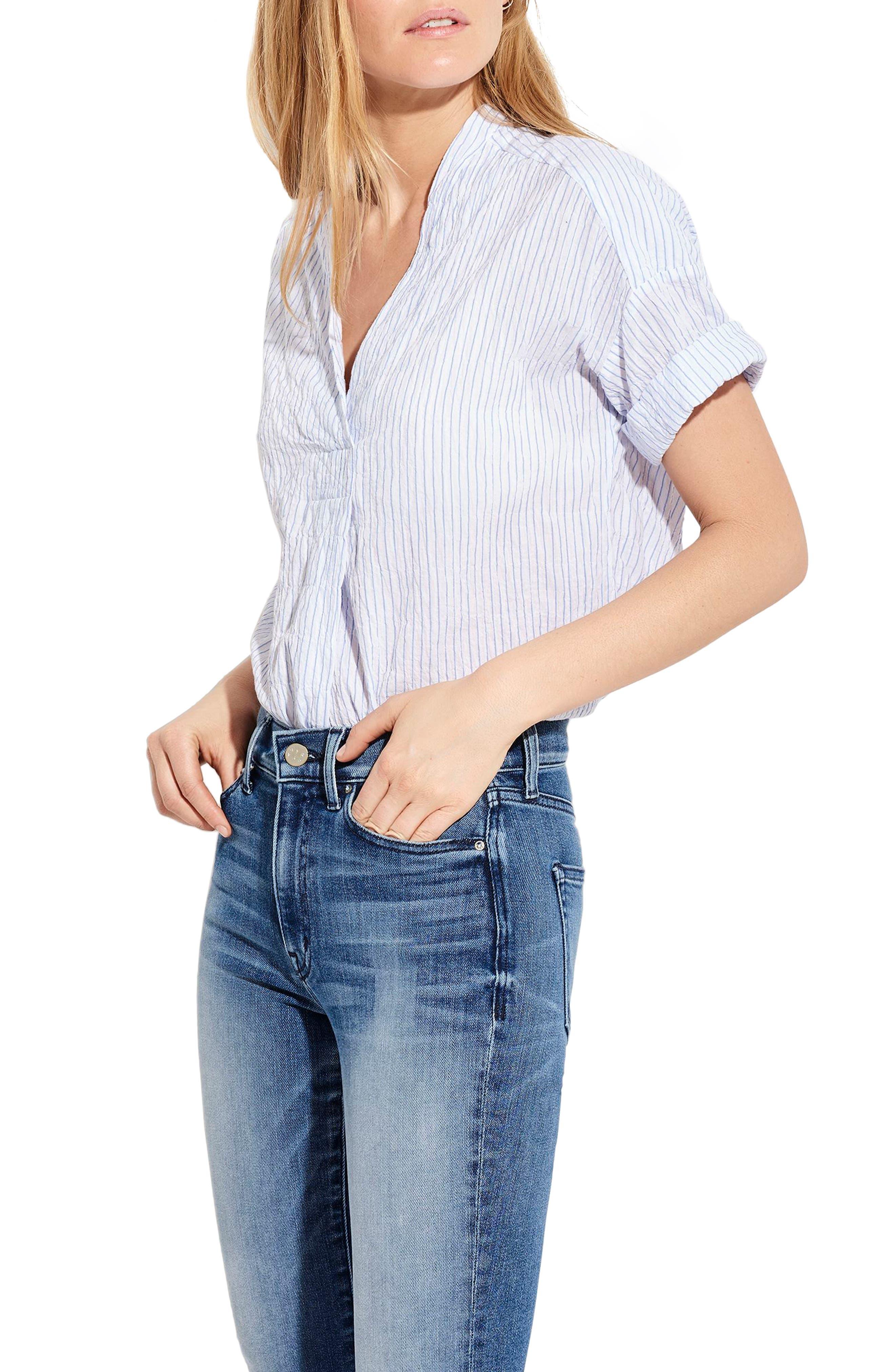 The Hero Shirt,                             Alternate thumbnail 3, color,                             Blue/ White Stripe