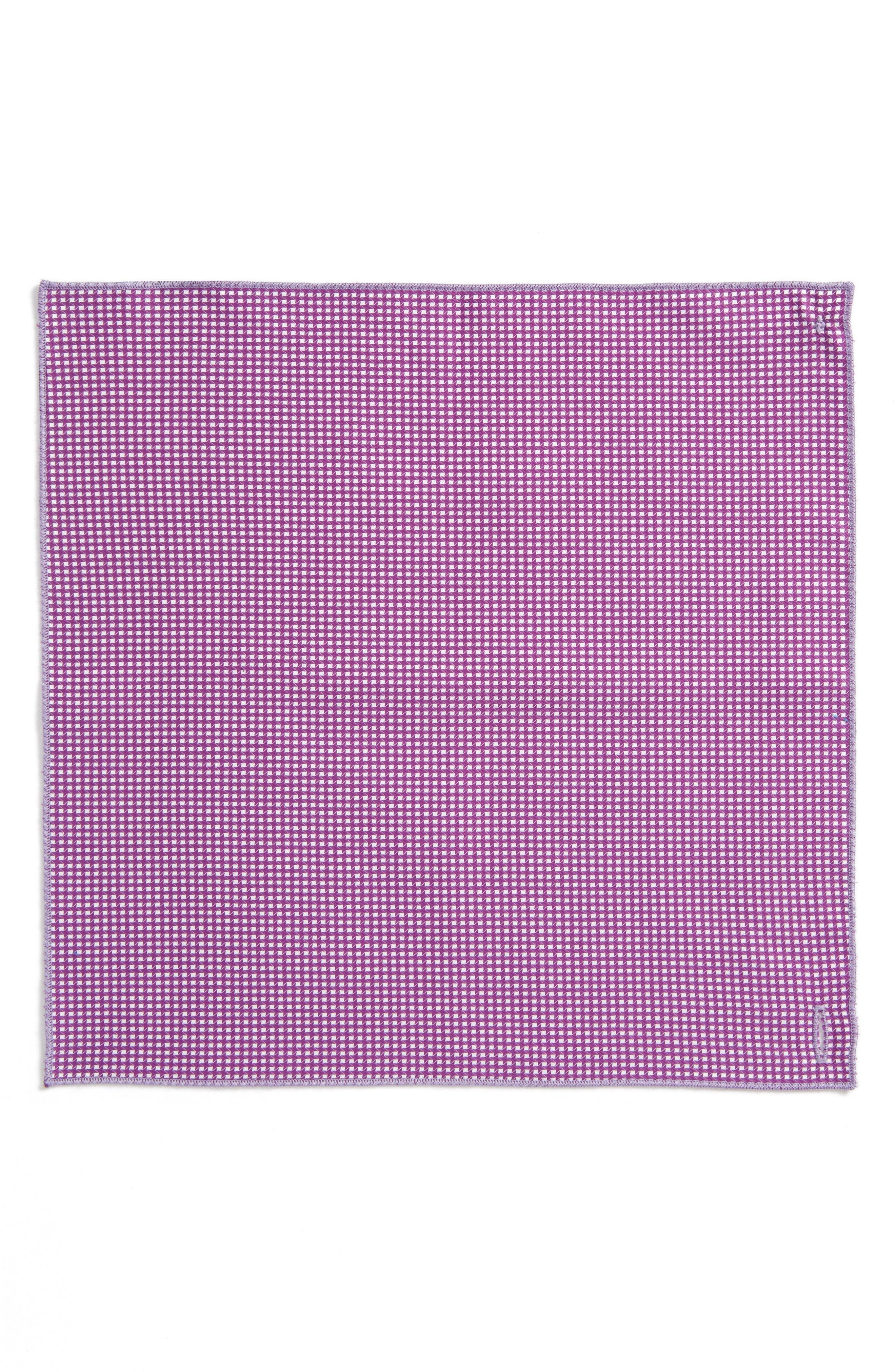 The Hound Cotton Pocket Square,                             Alternate thumbnail 2, color,                             Purple